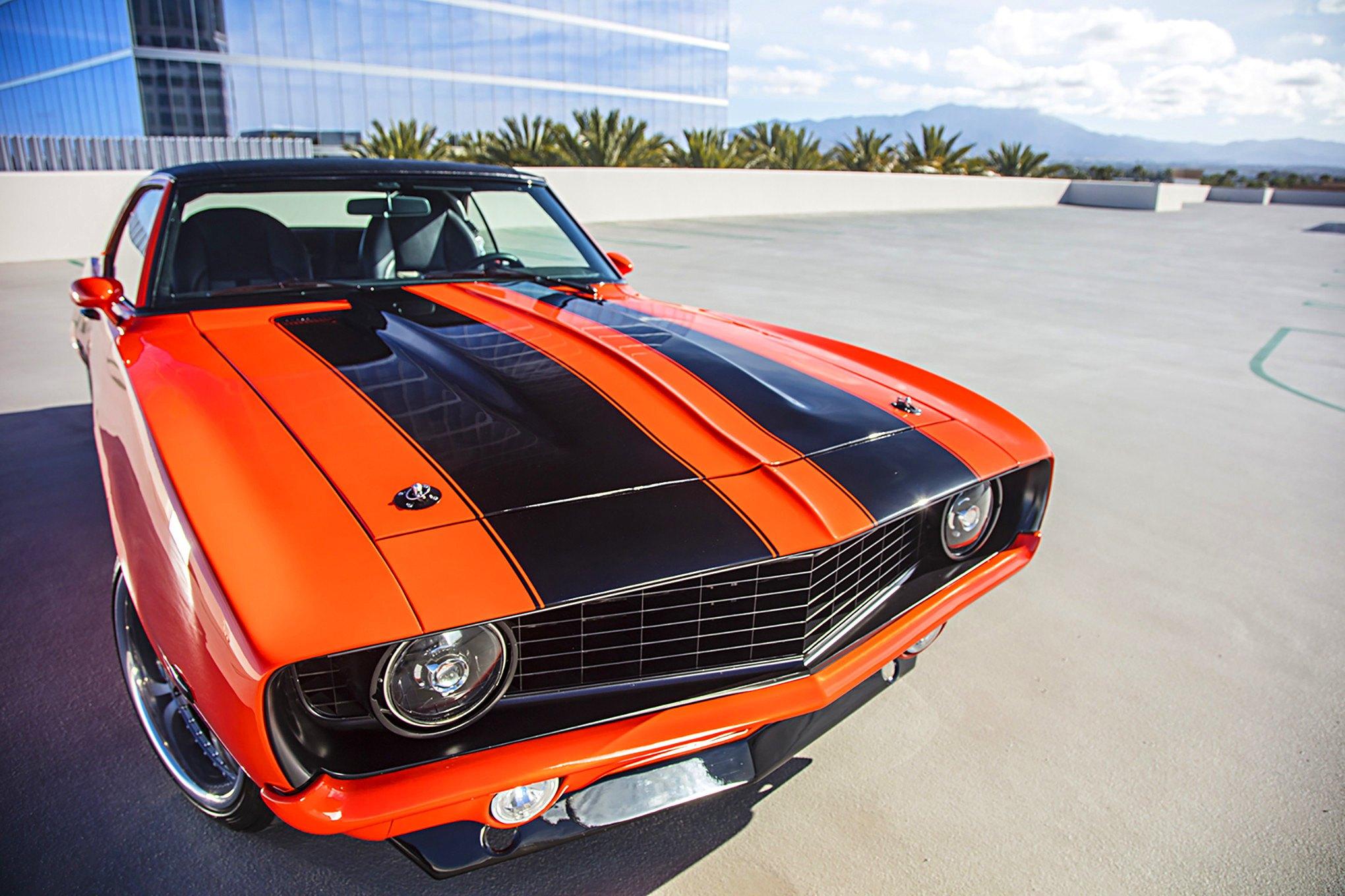 Custom Orange Chevy Camaro With Black Stripes Photo By Tim Sutton
