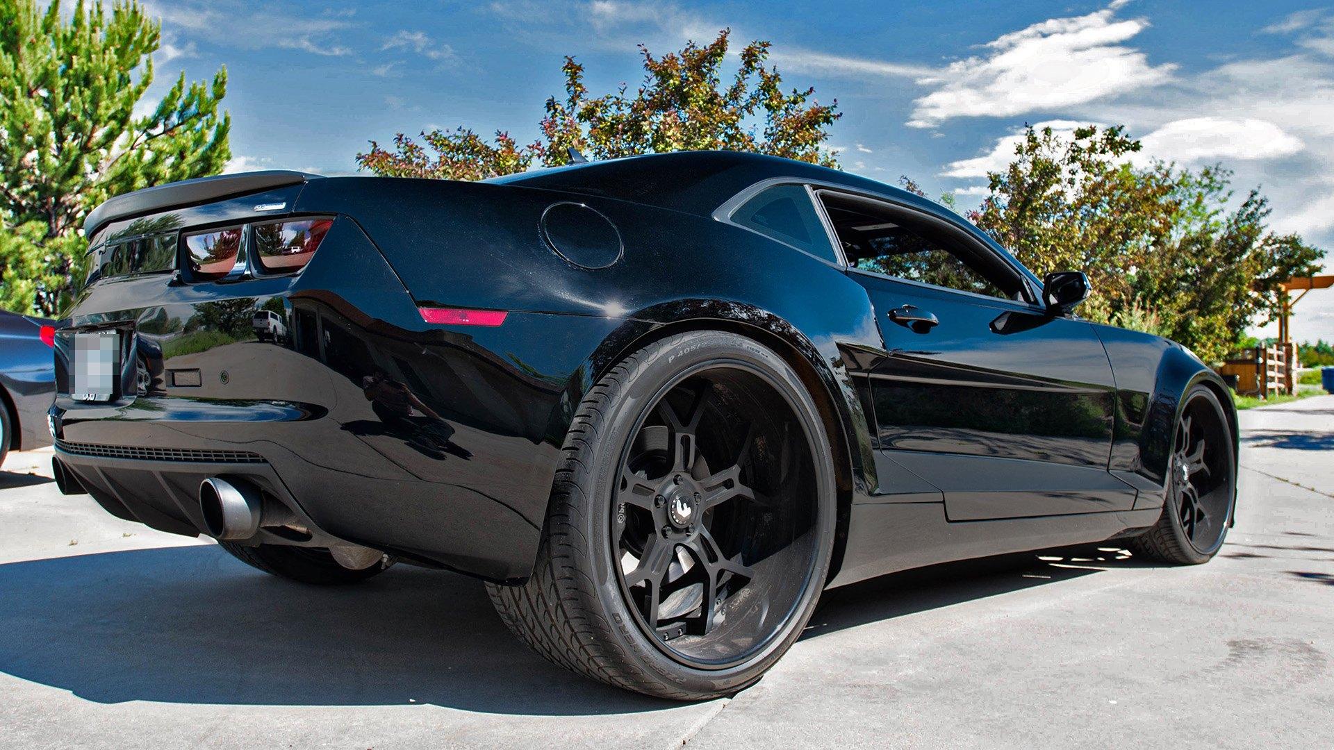Batman Special Widebody Camaro On Forgiato Deep Dish Custom Wheels Carid Com Gallery