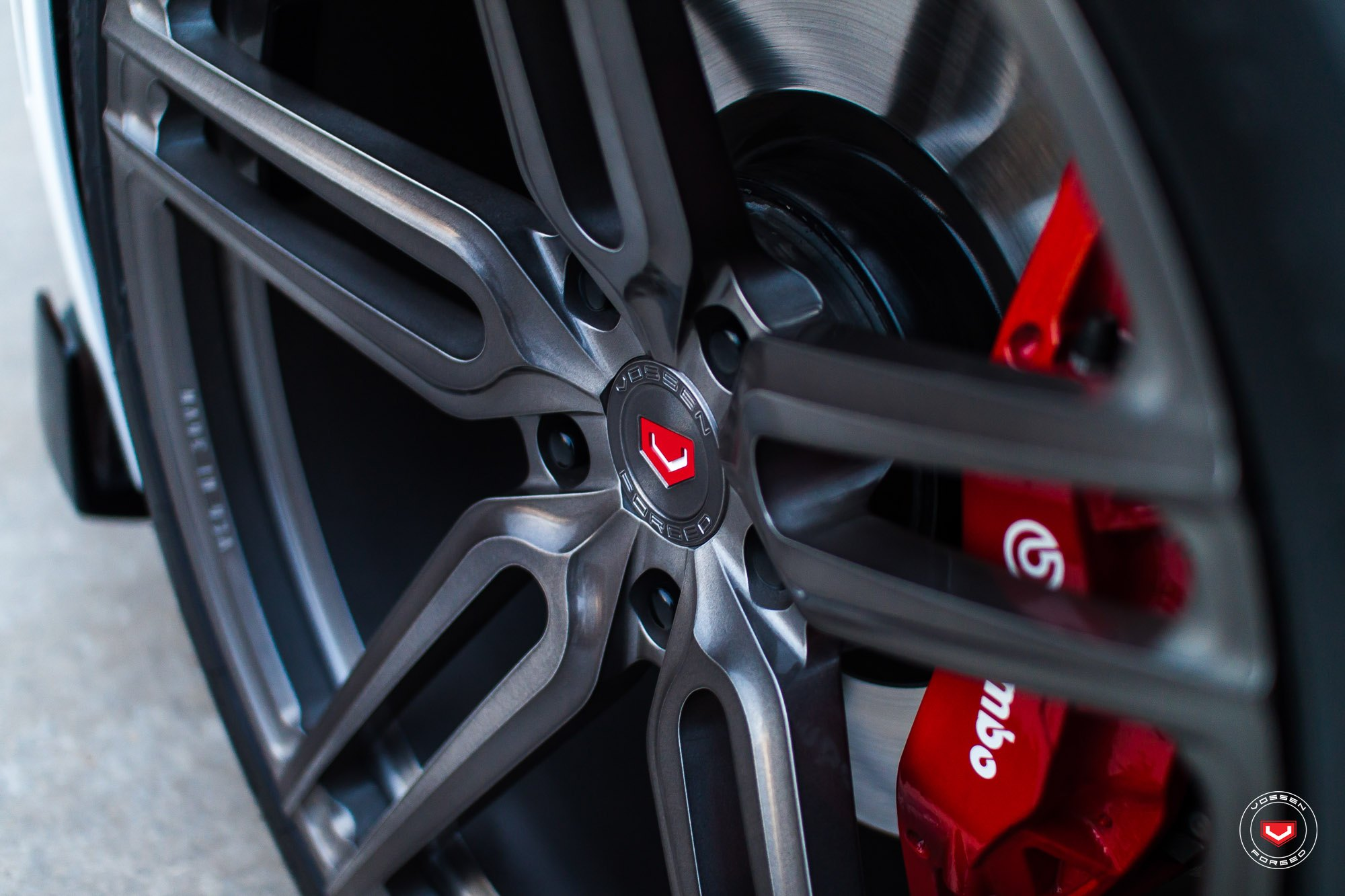 HC Forged Vossen Wheels with Red Brakes on Chevy Camaro - Photo by Vossen