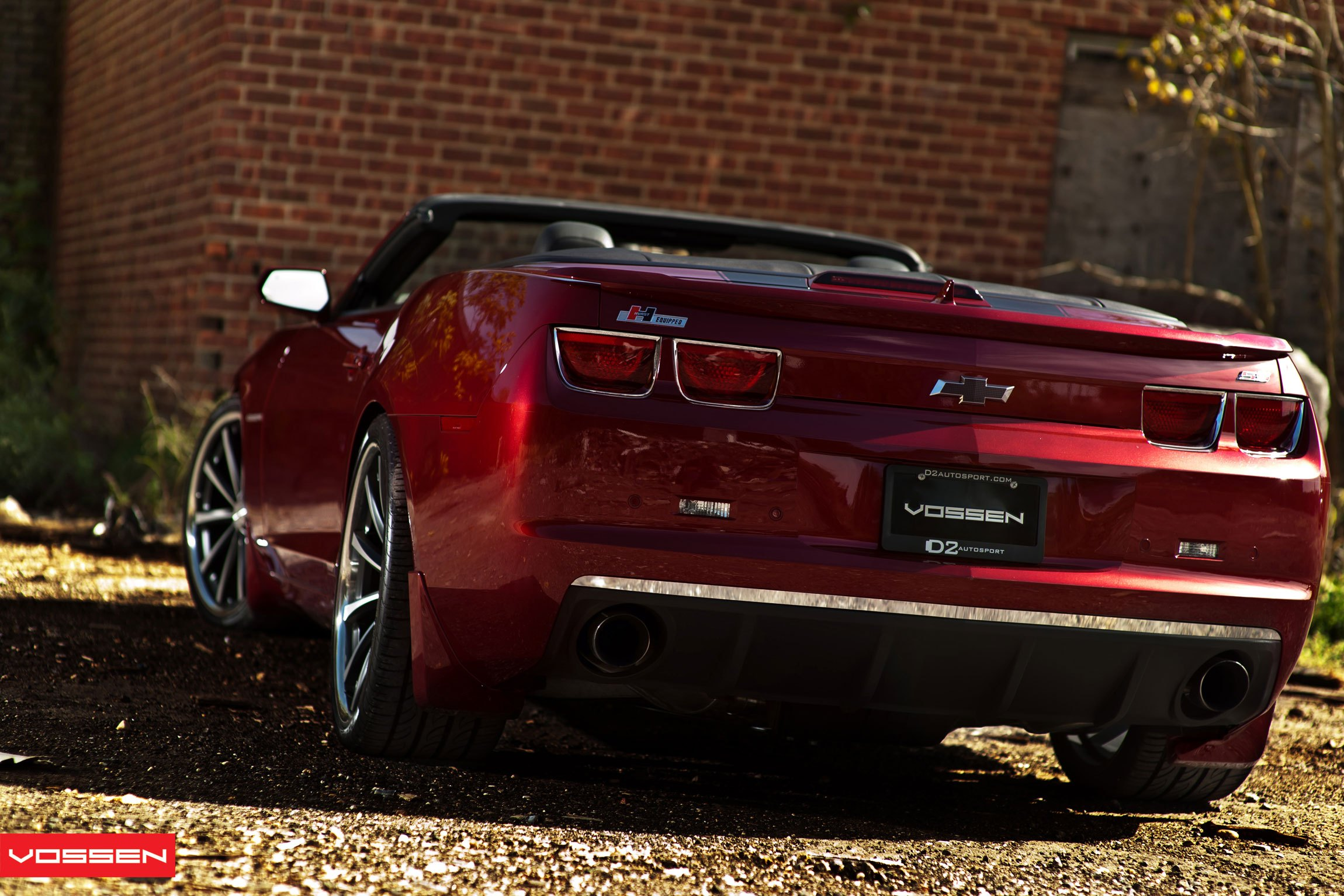 Custom Rear Diffuser On Red Convertible Chevy Camaro Photo By Vossen