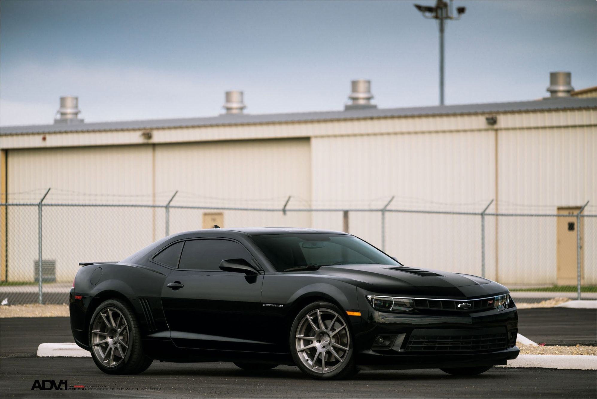 Black Chevy Camaro SS with Aftermarket Side Skirts - Photo by ADV.1