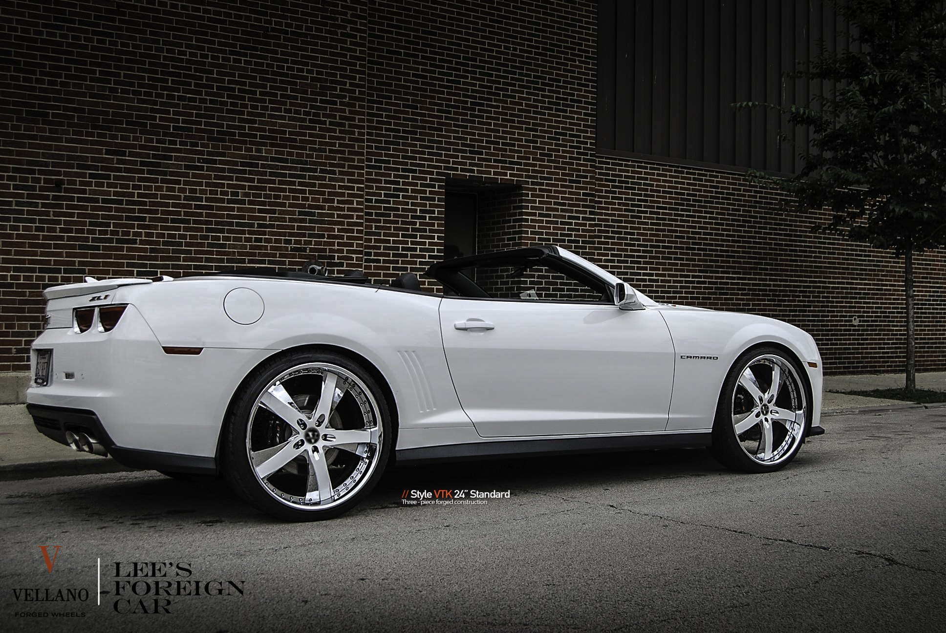 24 Inch VTK Vellano Rims on White Chevy Camaro - Photo by Vellano