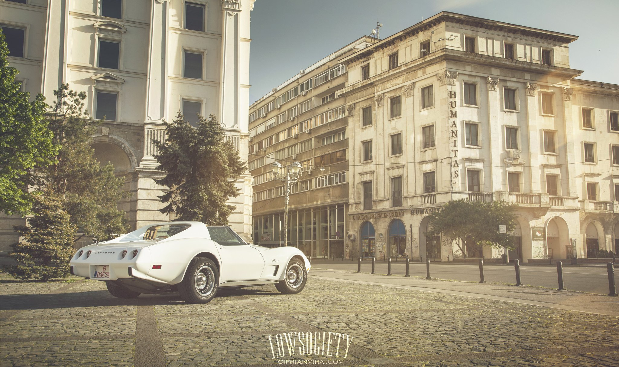 White Chevy Corvette on Goodyear Tires  - Photo by Ciprian Mihai
