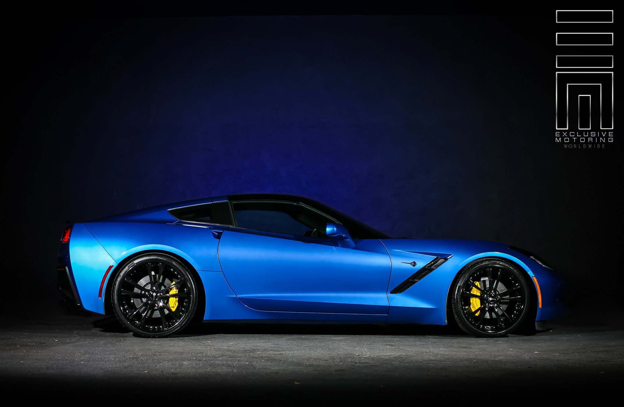 Electric Blue Corvette C7 Side View Photo By Exclusive Motoring