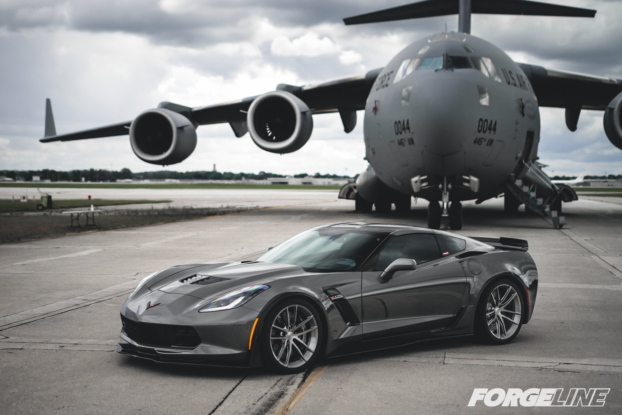 Custom Gray Chevy Corvette Z06 Side Scoops - Photo by Forgeline Motorsports