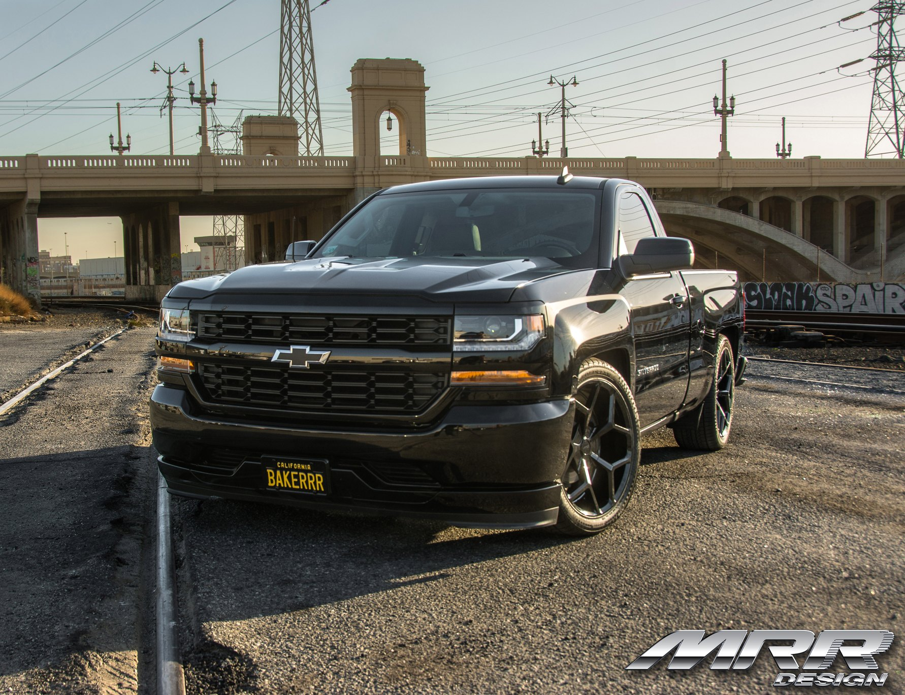 Silverado Muscle Truck With Lowered Suspension And Mrr Wheels Carid Com Gallery