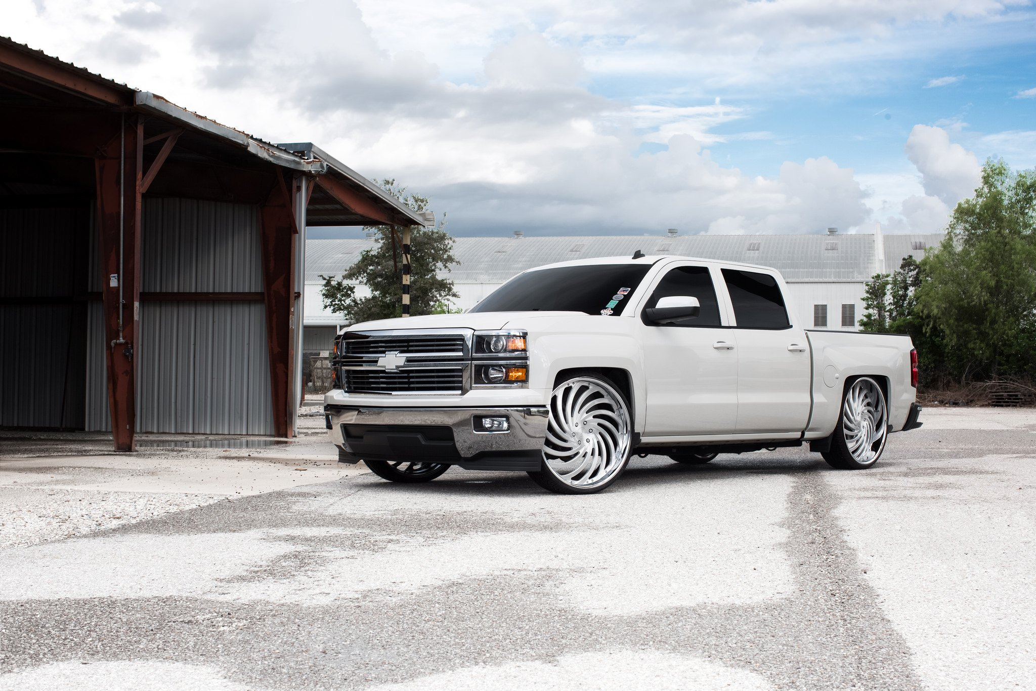Ace Of Spades Custom White Chevy Silverado Carid Com Gallery