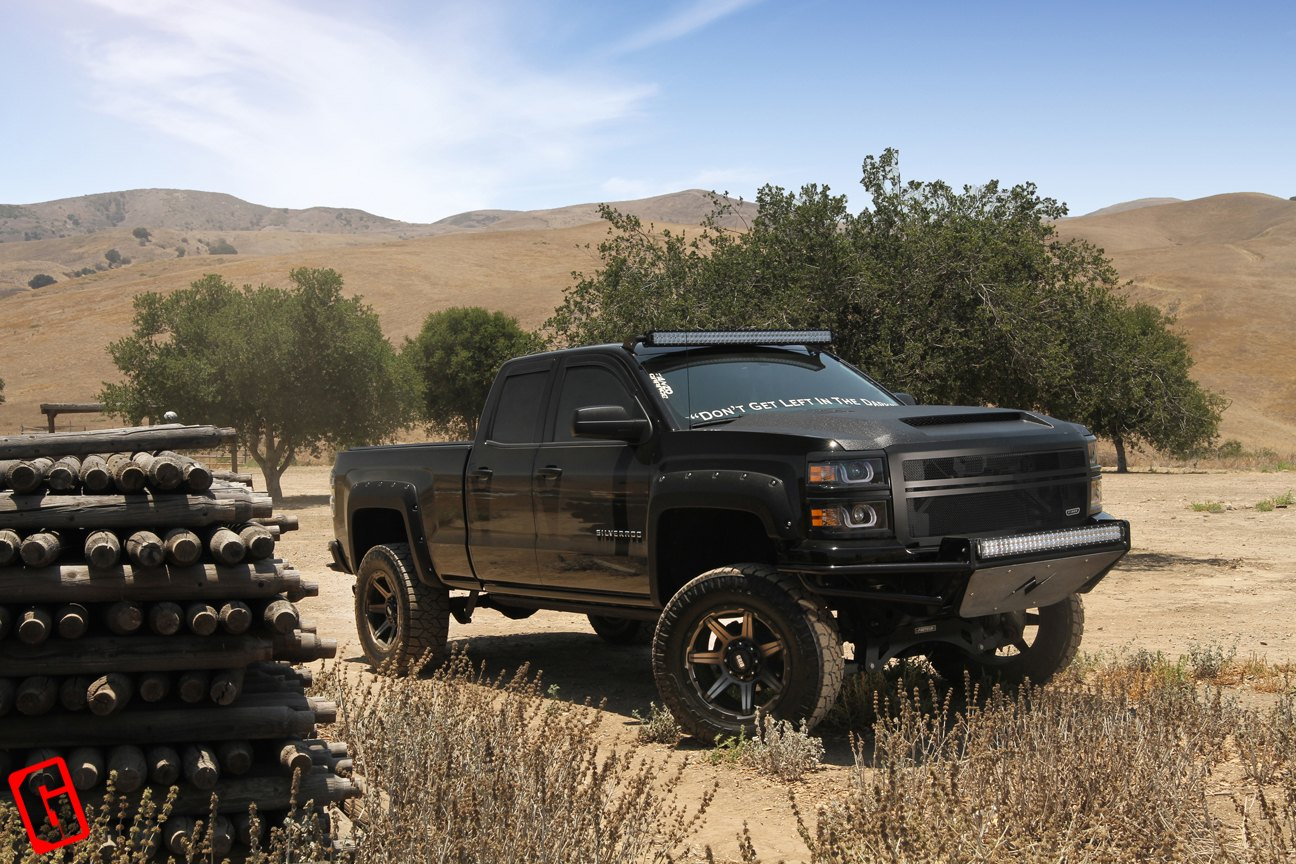 Truck black chevy truck lifted : Striking Appearance Black Lifted Chevy Silverado on Grid Wheels ...