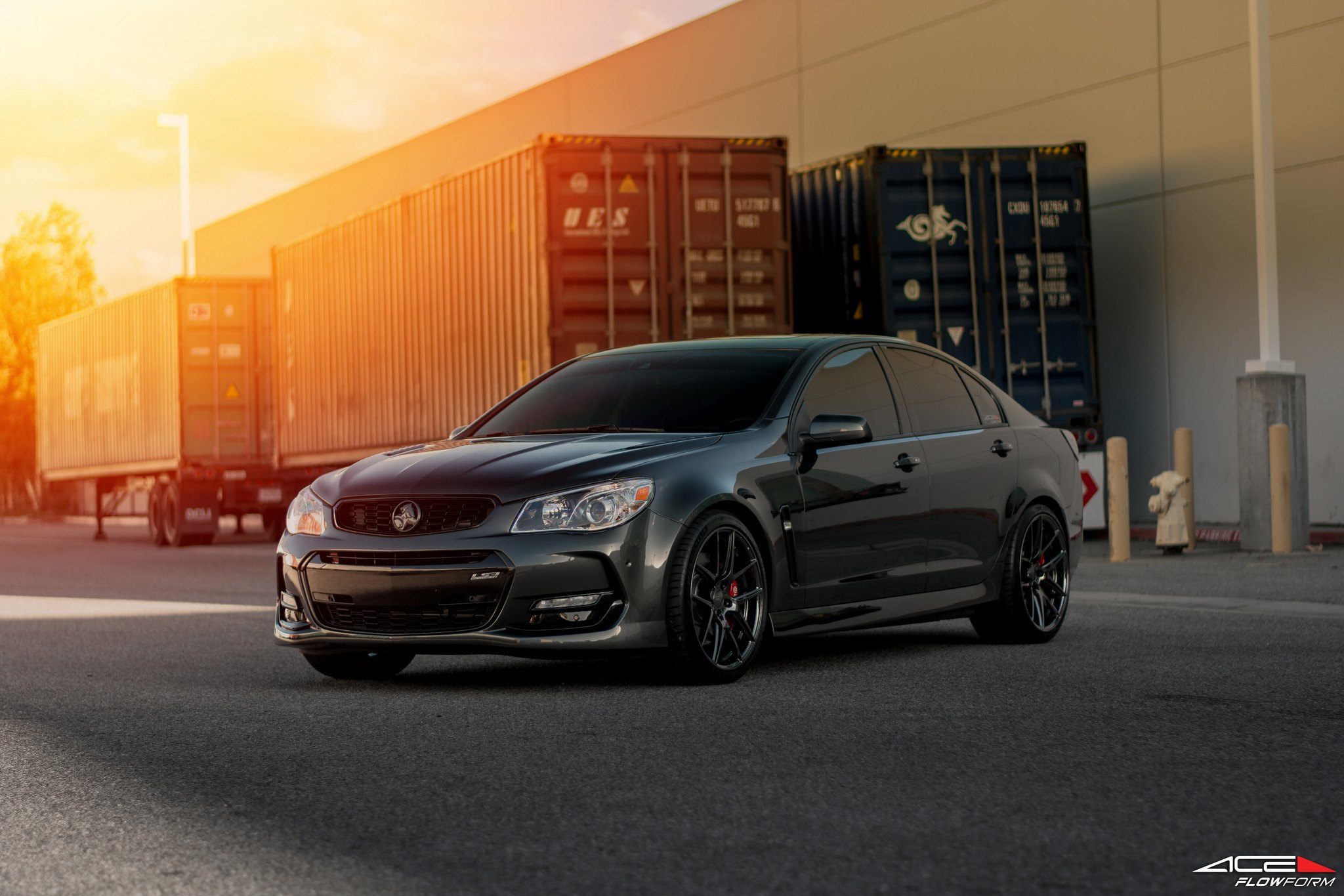 ace alloy flowform wheels give a customized look to gray chevy ss gallery. Black Bedroom Furniture Sets. Home Design Ideas