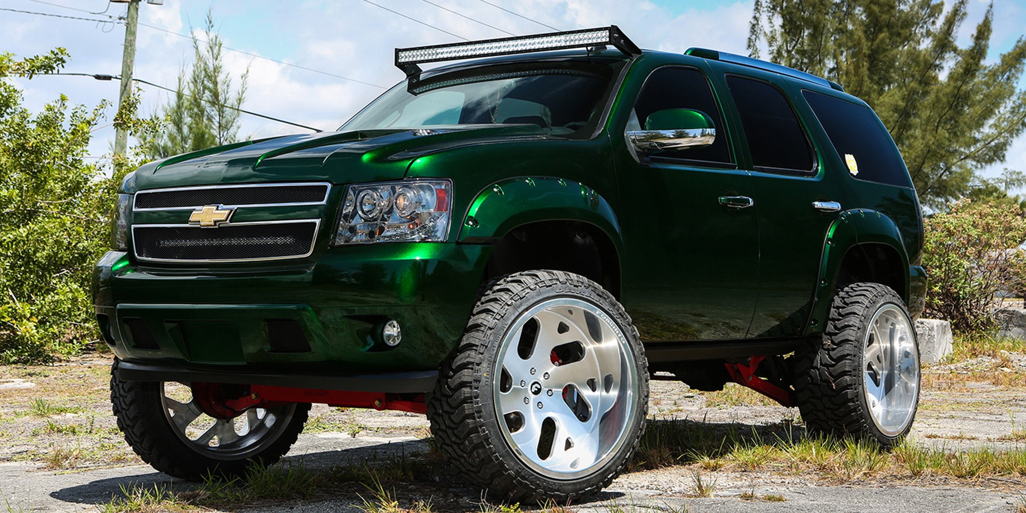 Chevy Tahoe In Purple Green Color With Offorad Mods Photo By Forgiato