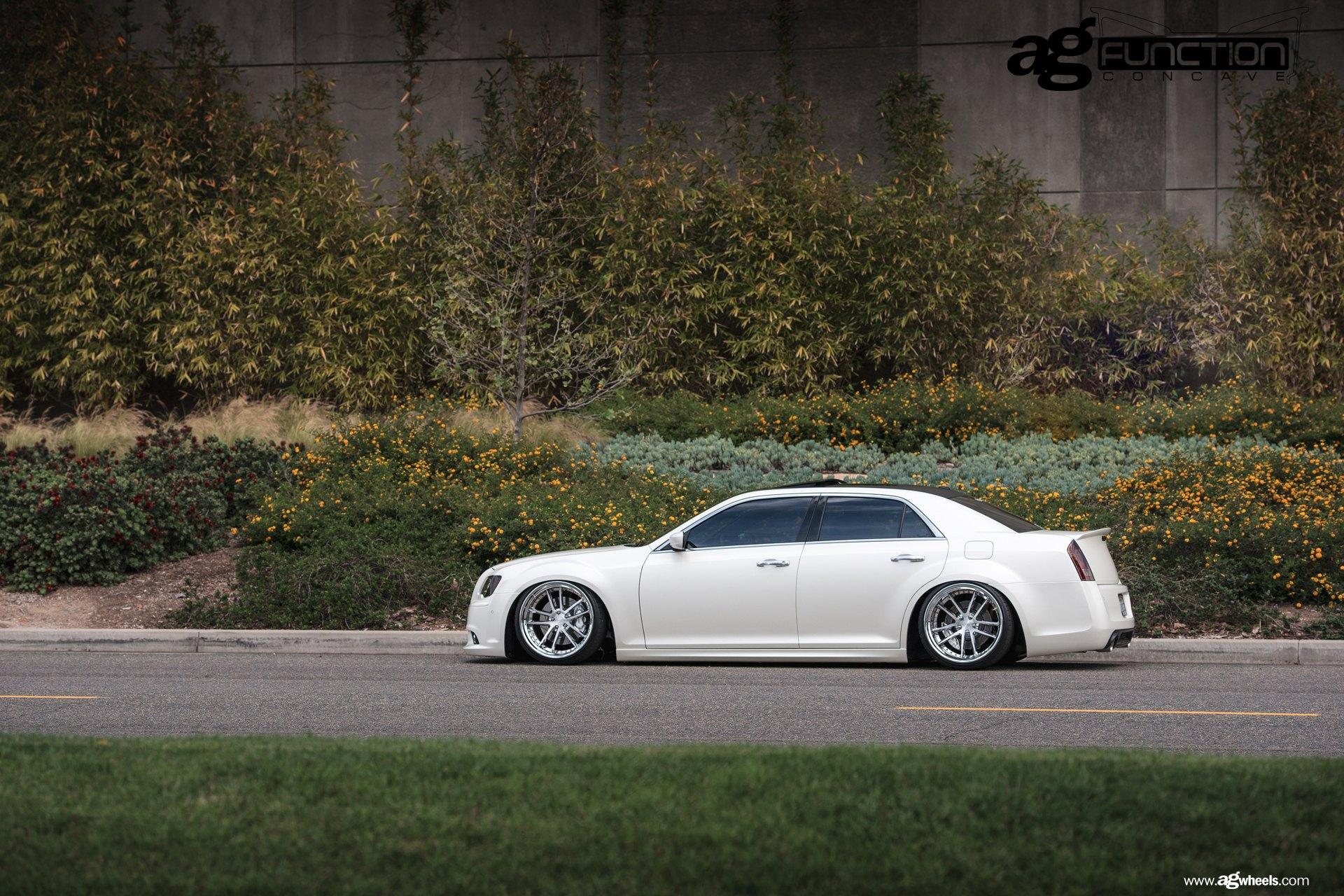 Stanced Chrysler 300 White Stanced Chrysler...
