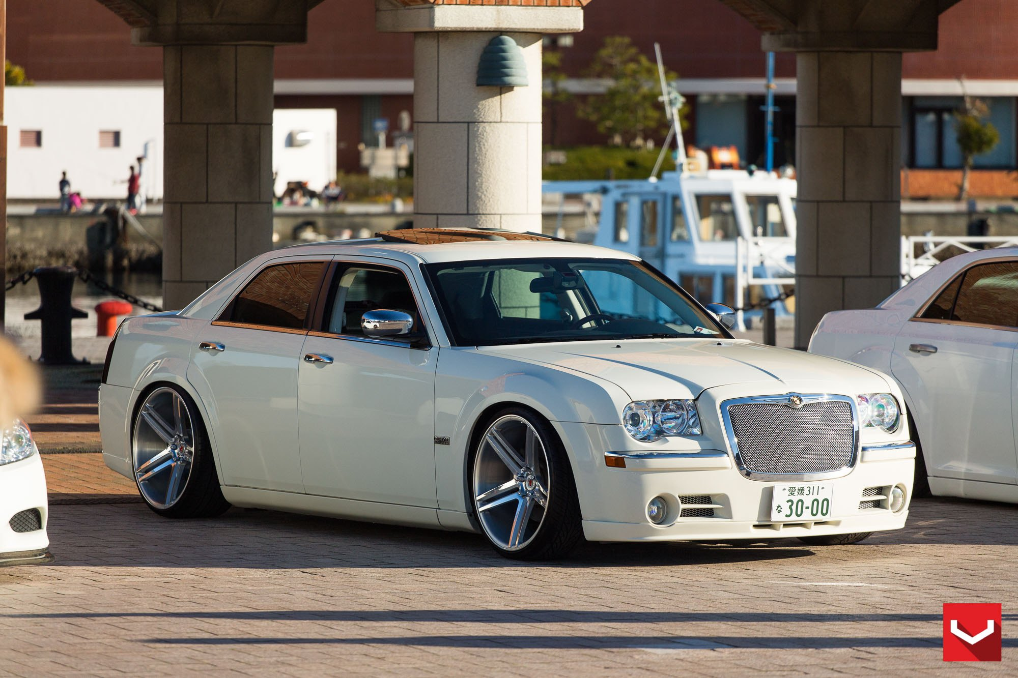 VIP Appearance of White Chrysler 300 Fitted with Accessories — CARiD ...