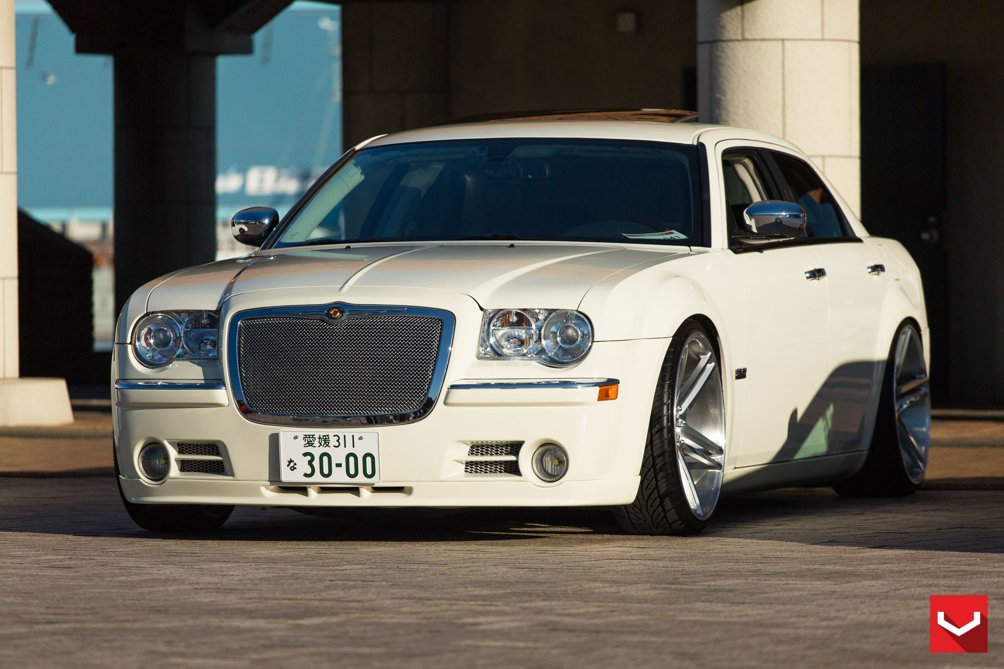 VPS Series Forged Vossen Wheels on White Chrysler 300 - Photo by Vossen