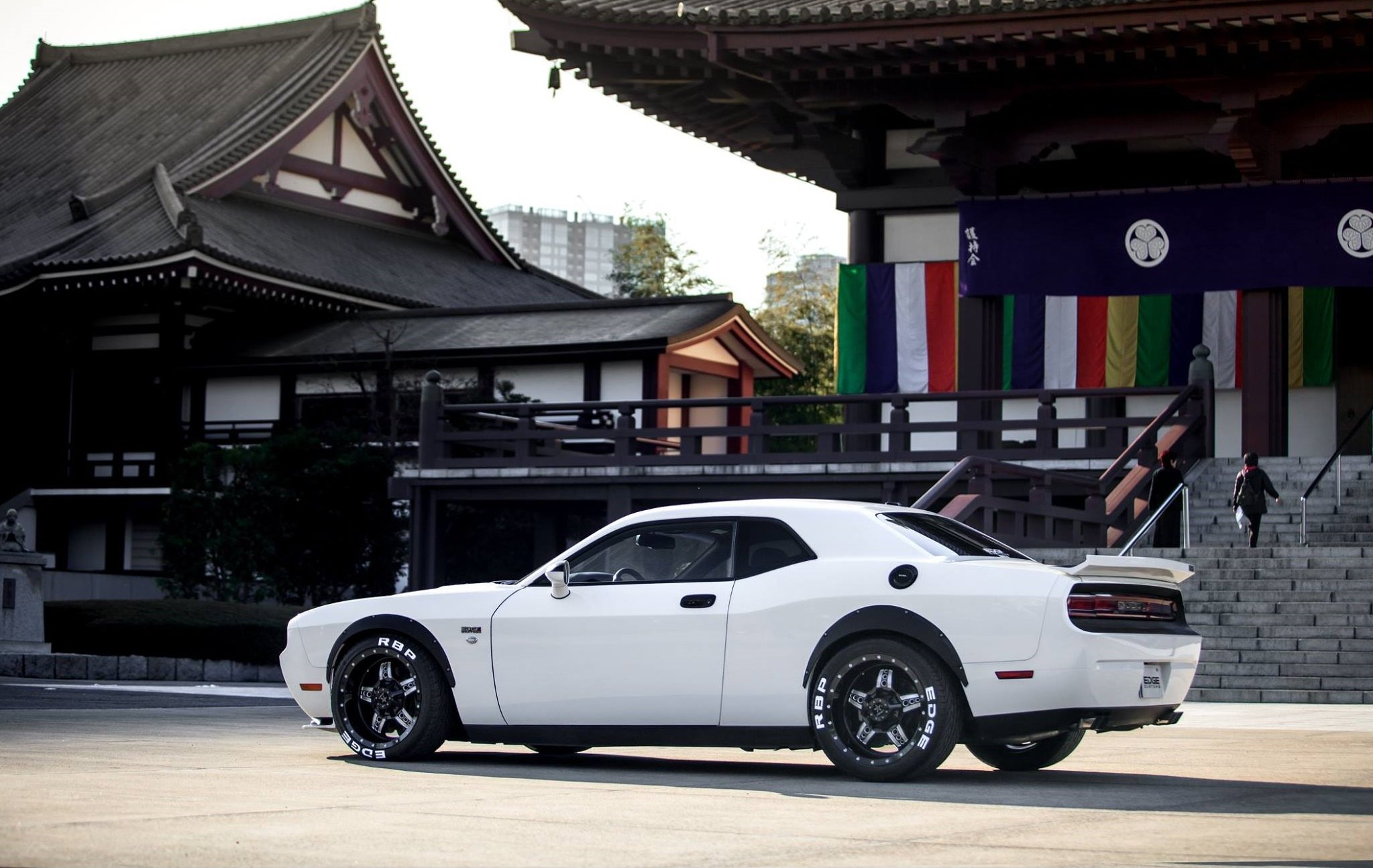 Dodge Chellenger with RBP Truck Wheels and Fender Flares