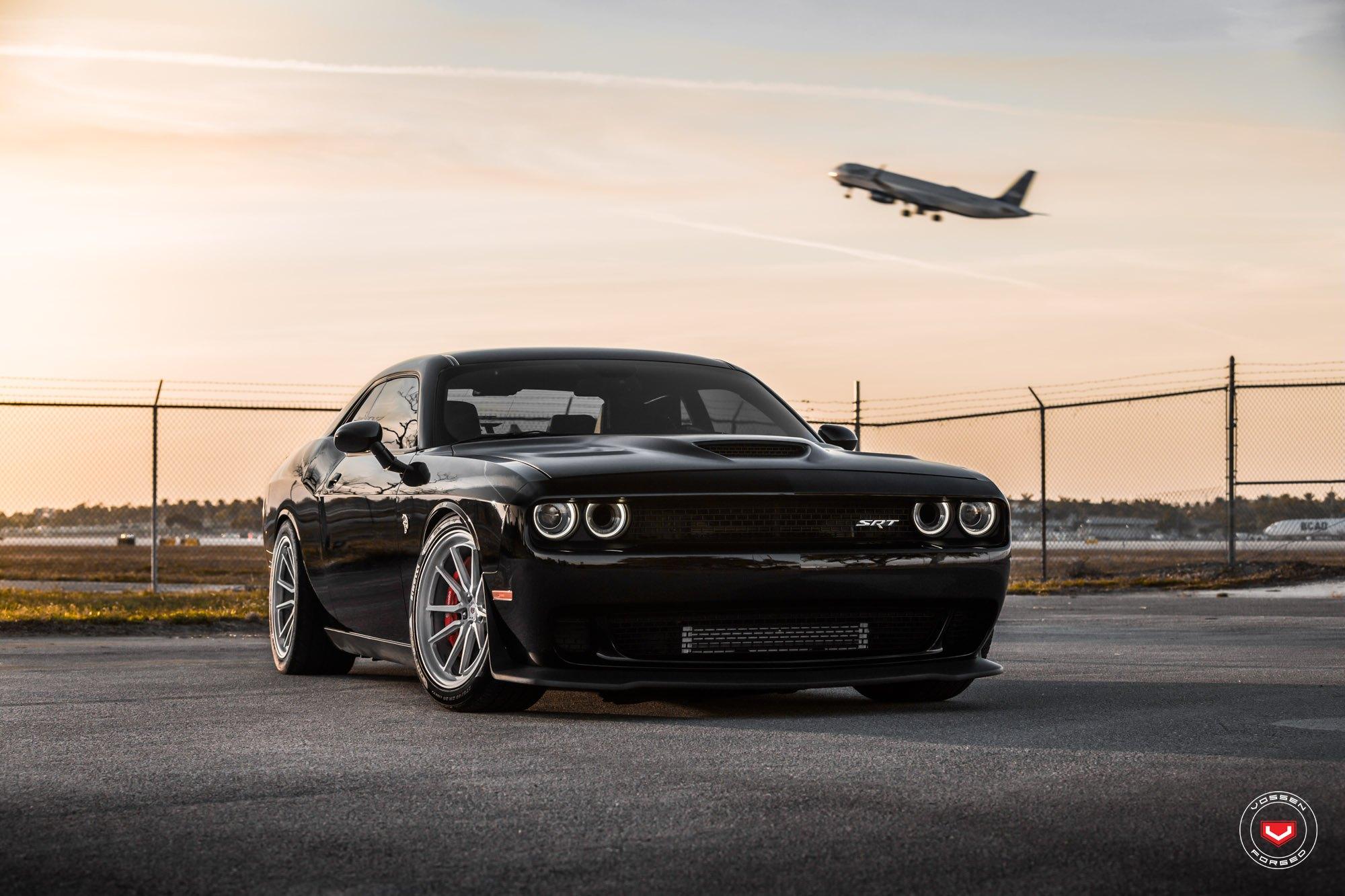 Beast Mode On Black Dodge Challenger Srt With Halo Lights Carid Com Gallery