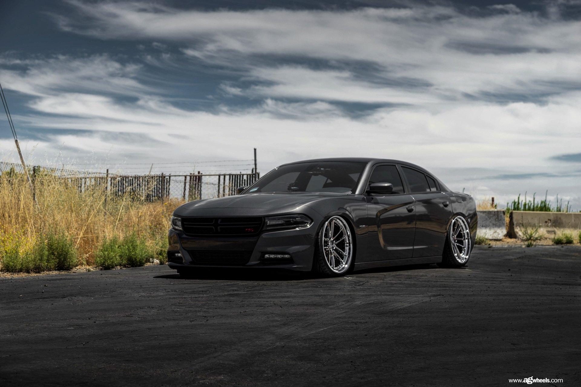 Graphite Black Charger R T On Chrome Rims By Avant Garde