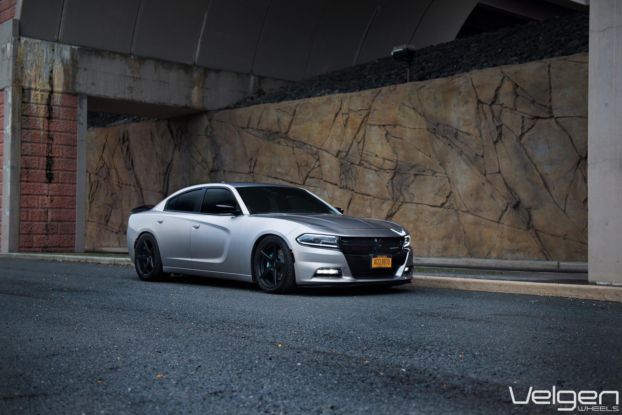 Silver Bullet Dodge Charger Shod in Matte Black Wheels — CARiD