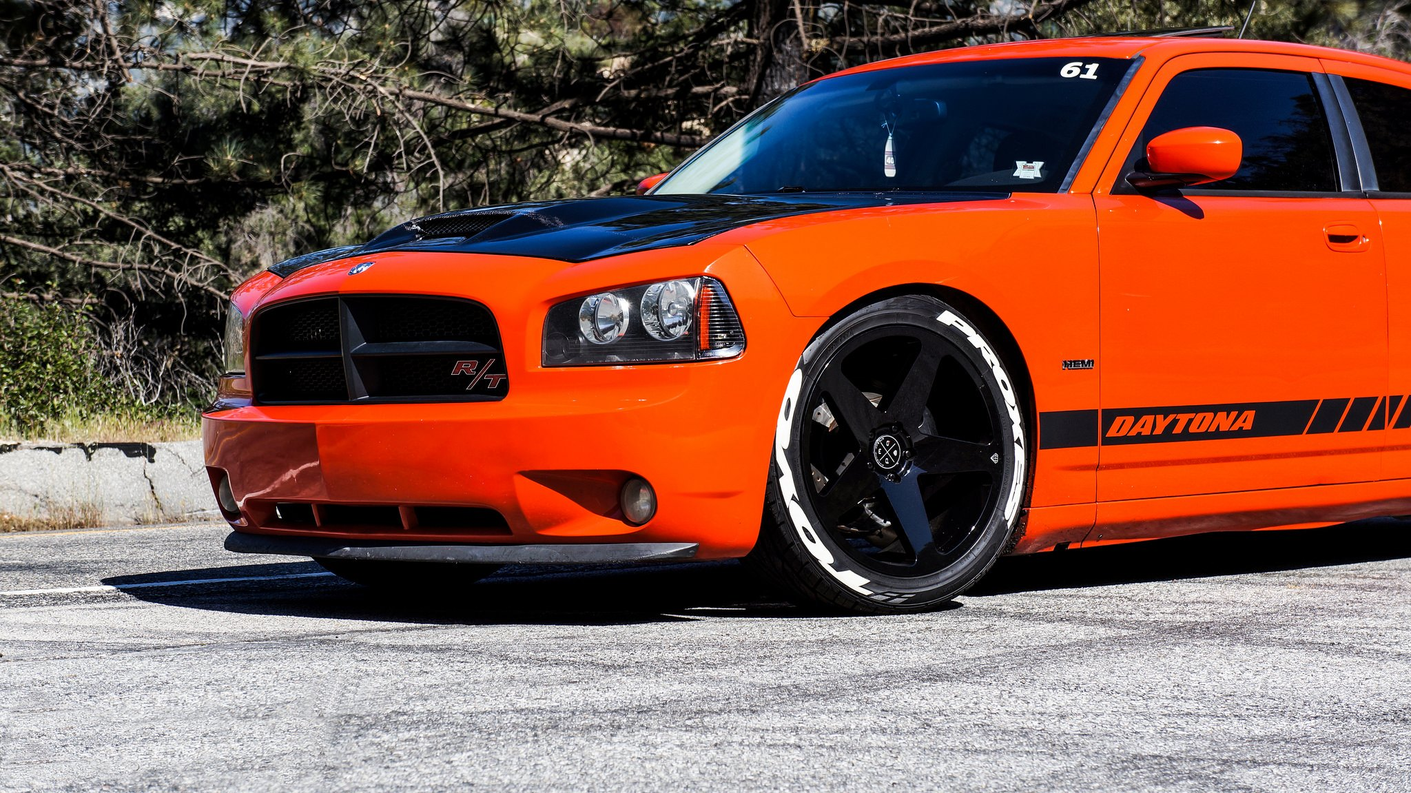 Bright Orange Dodge Charger With Contrasting Black Accents Carid Com Gallery