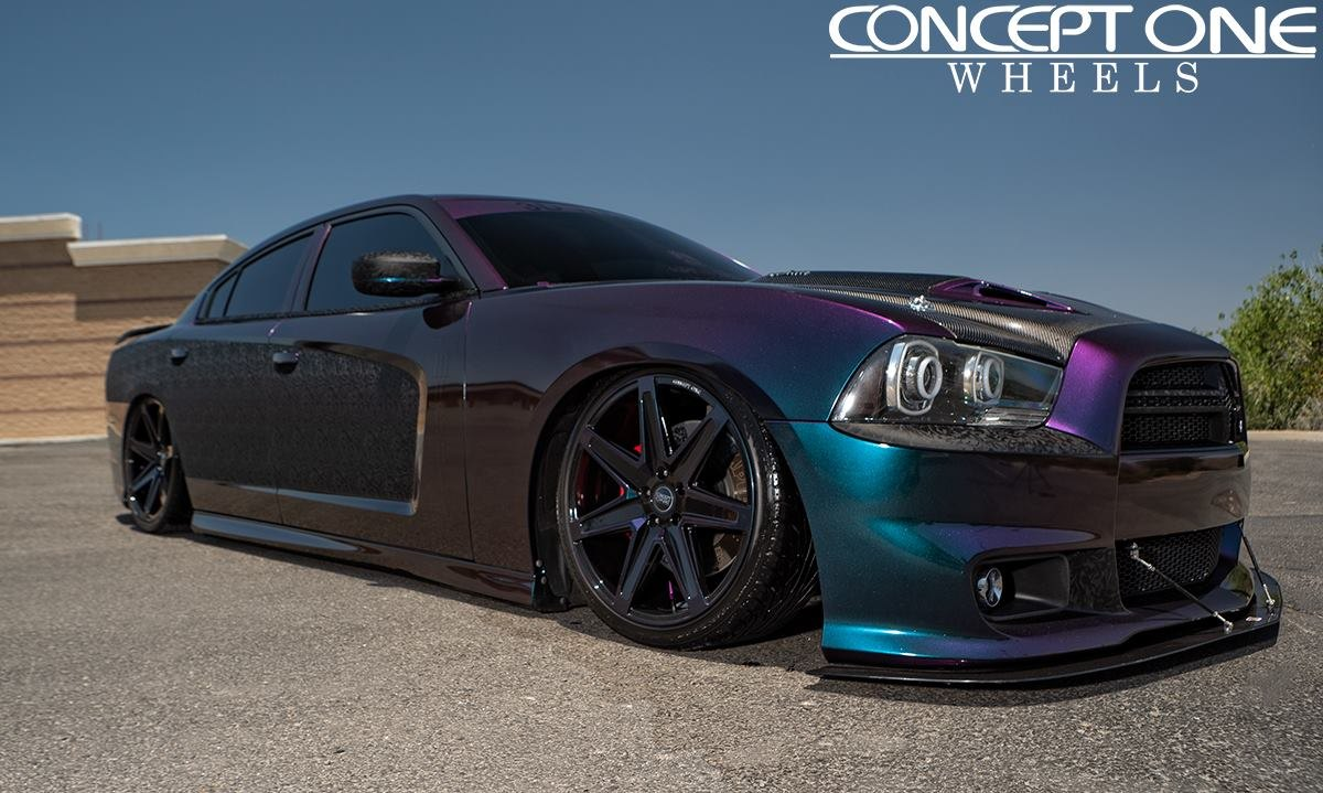 Stanced Out Dodge Charger Takes Advantage Of Cameleo Paint And Custom Body Parts Carid Com Gallery
