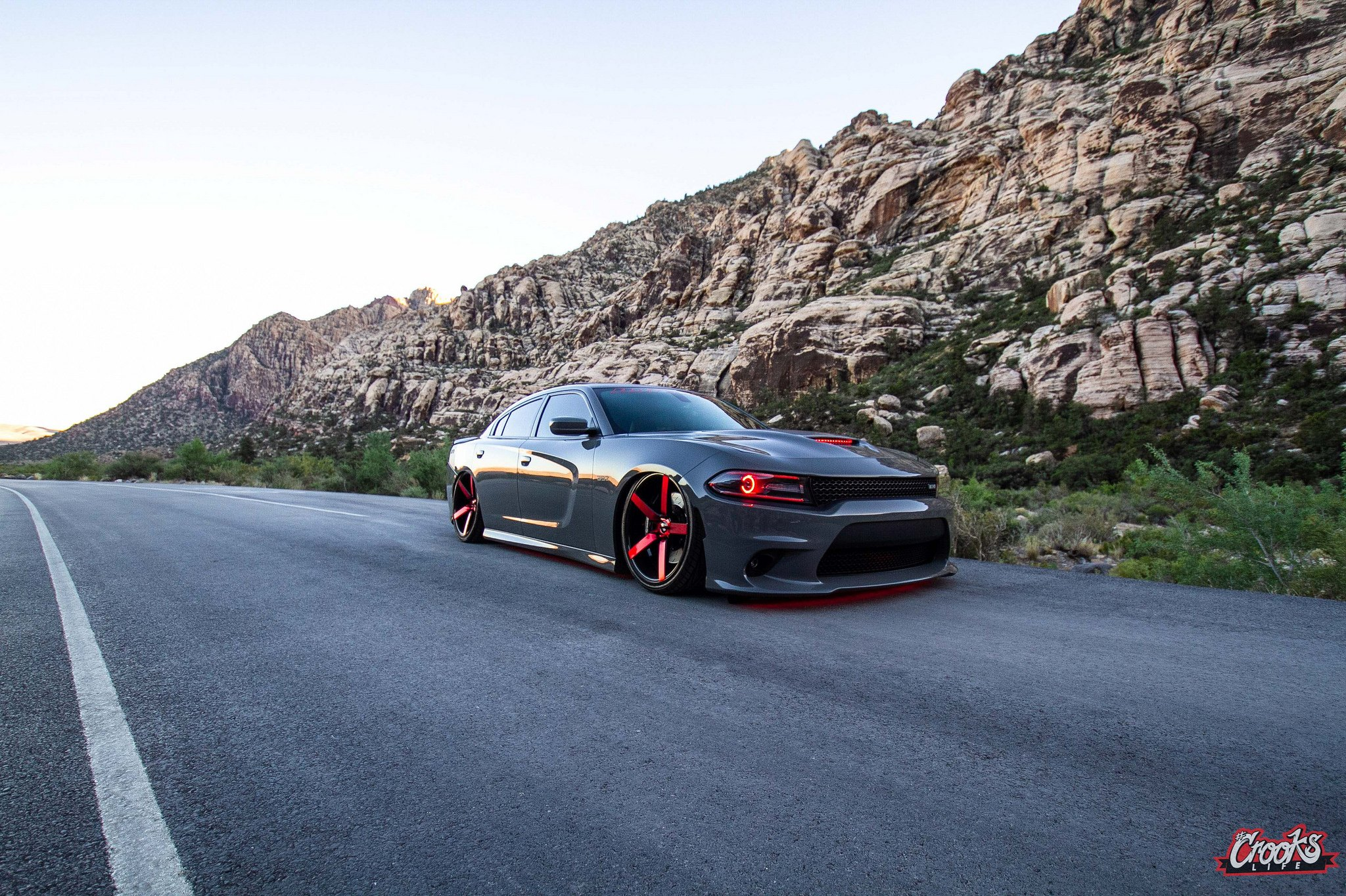 Custom Halo Headlights And Red Accents Reveal Evil And Sporty Nature Of Dodge Charger Carid Com Gallery