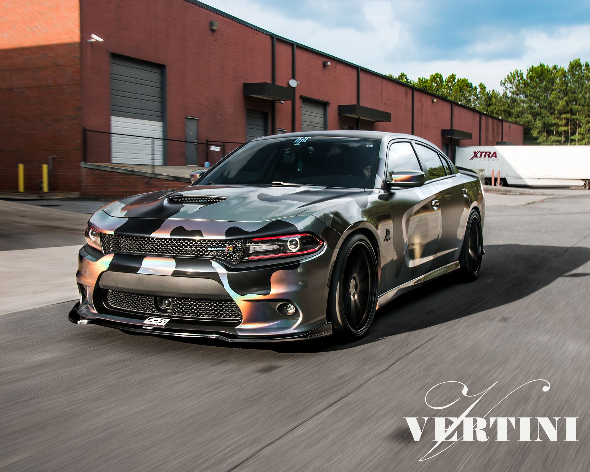 Red Led Accents And Camo Wrap For Racy Dodge Charger Styling Carid Com Gallery