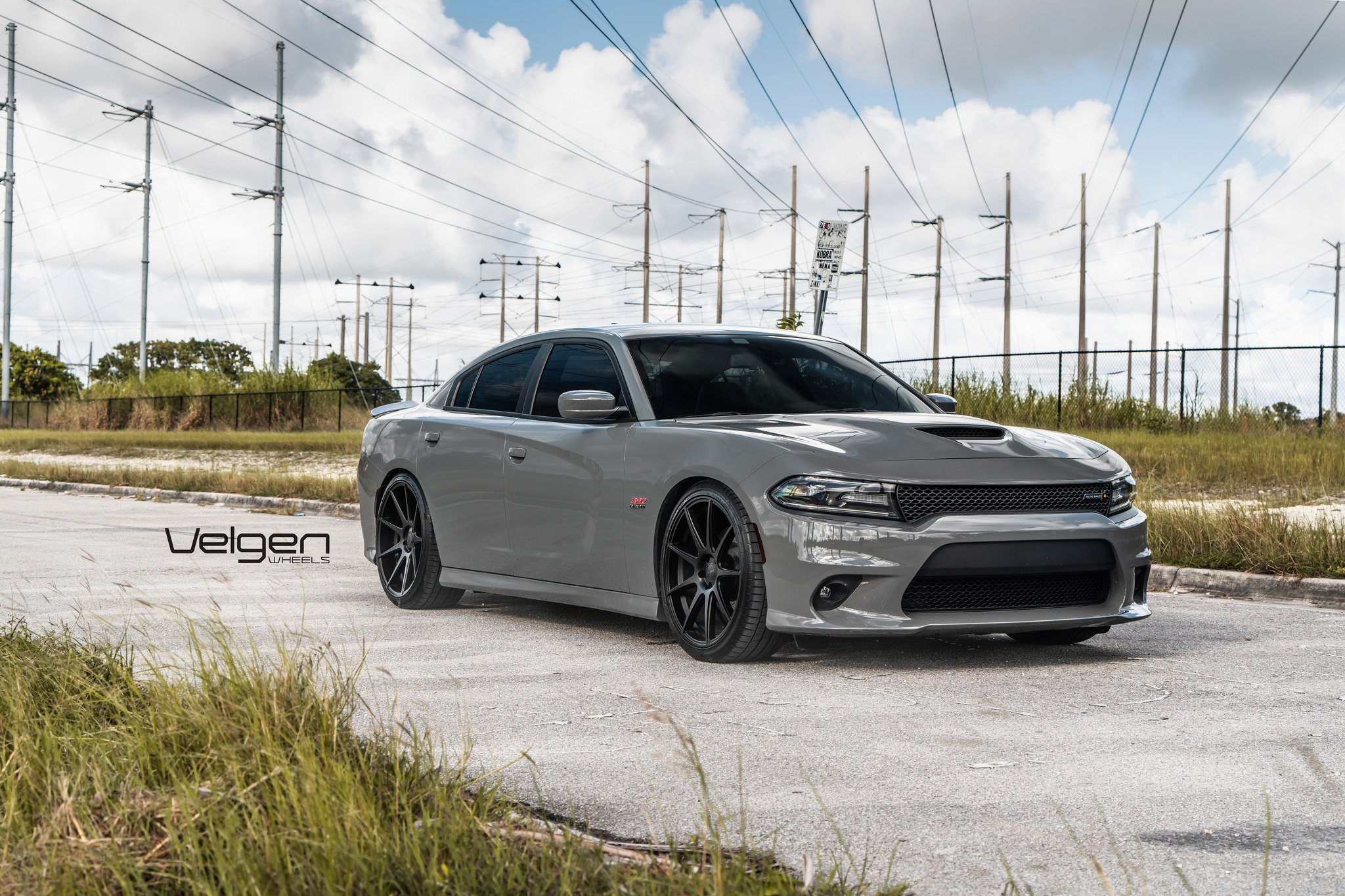 Custom Gray Dodge Charger Looking Mean with Velgen Wheels — CARiD.com  Gallery | 2015 Dodge Charger Custom Wheels |  | CARiD.com