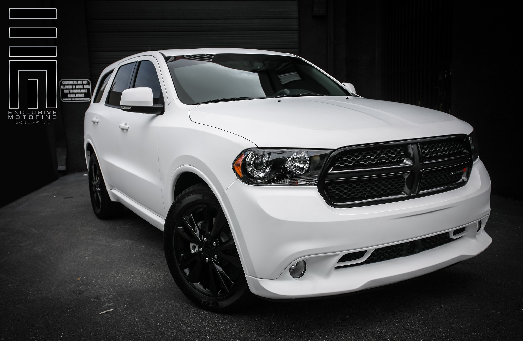 Snow White Dodge Durango R T By Exclusive Motoring Carid