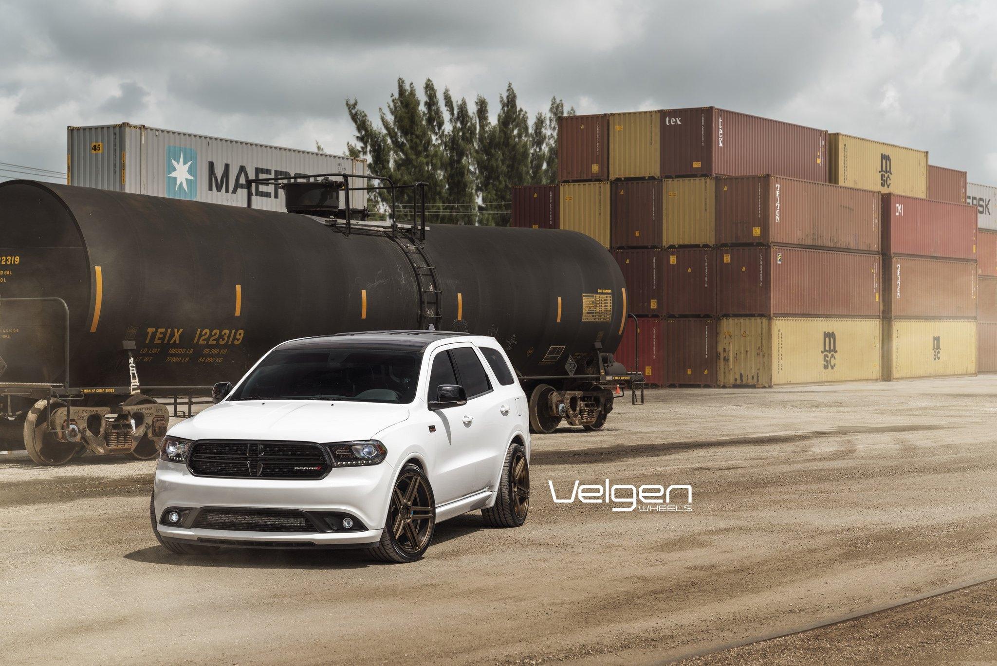 White Dodge Durango Shows Off Custom Bronze Wheels By Velgen Carid Com Gallery