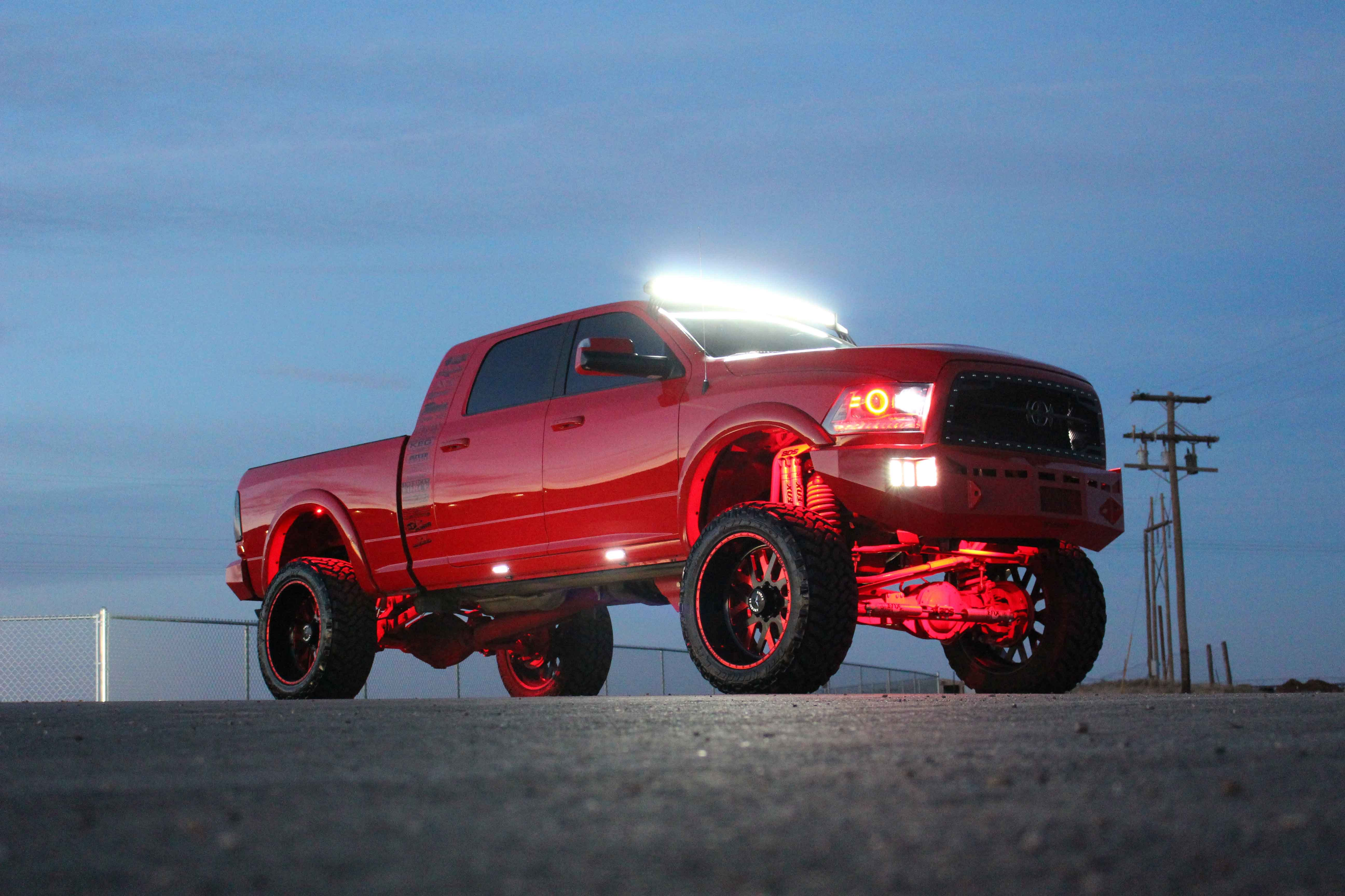 Radical Fire Truck Lifted Dodge Ram Megacab Carid Com