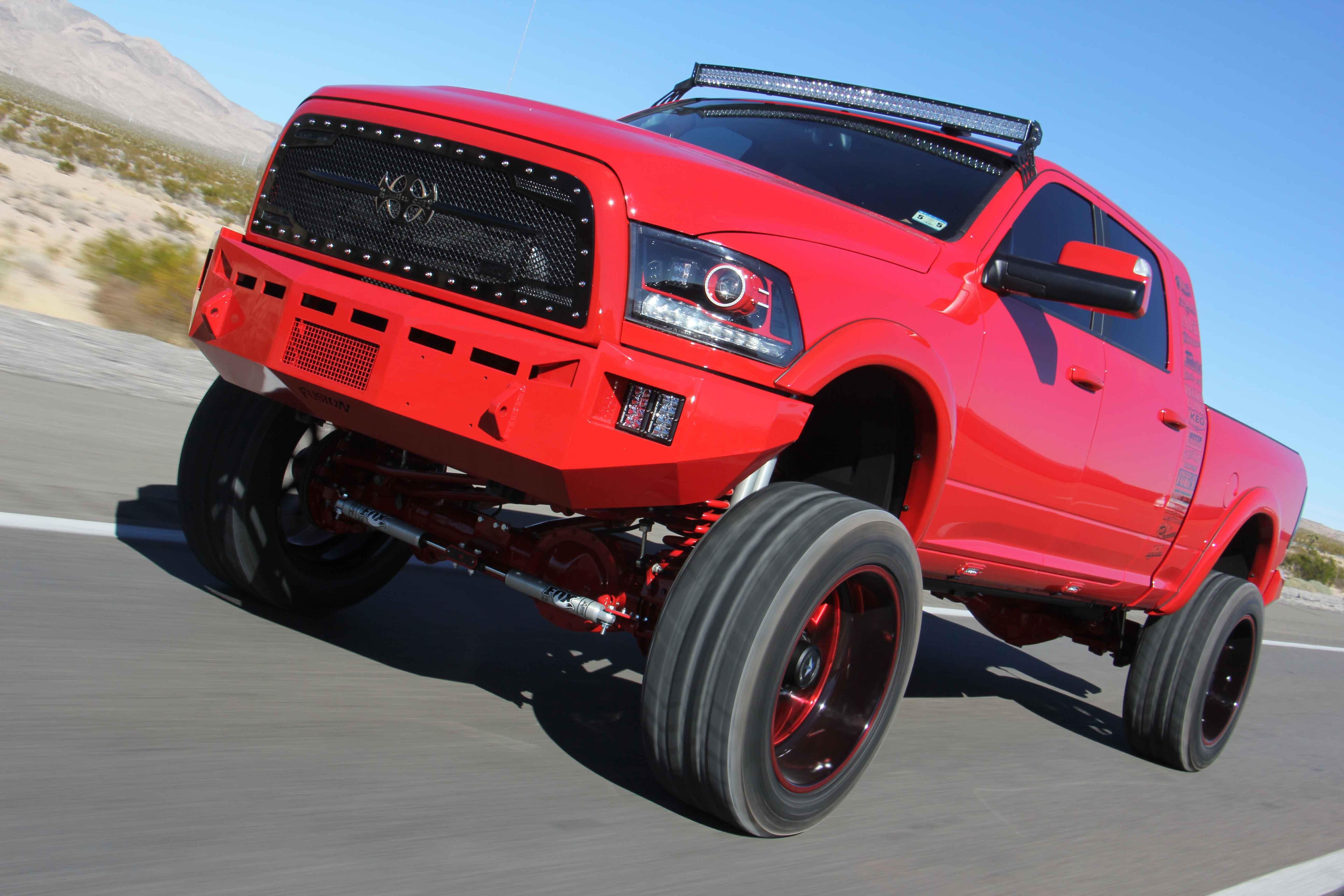 Radical Fire Truck Lifted Dodge Ram Megacab Carid Com Gallery