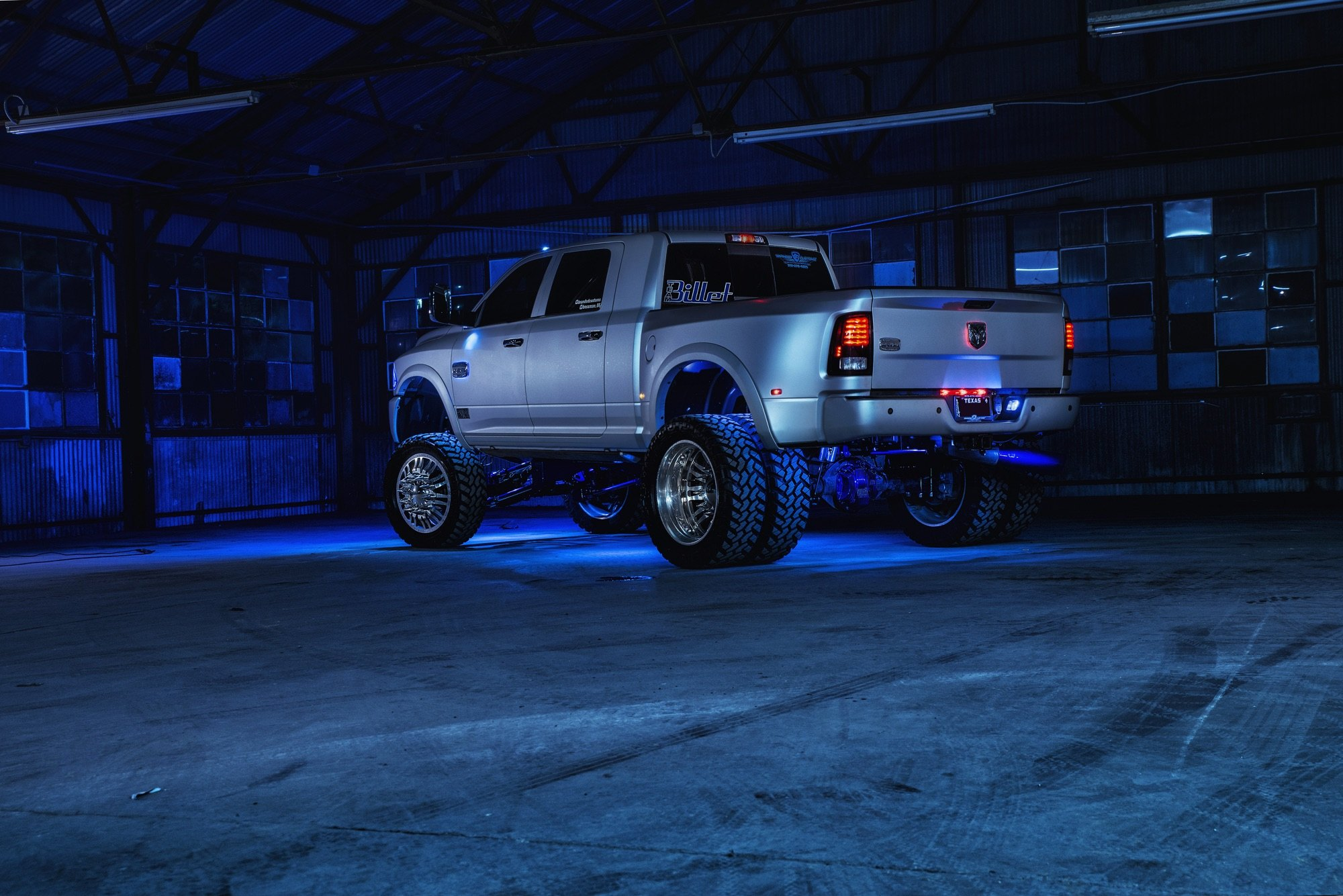 Freezing Cold - Lifted Ram 3500 Megacab with Blue ...