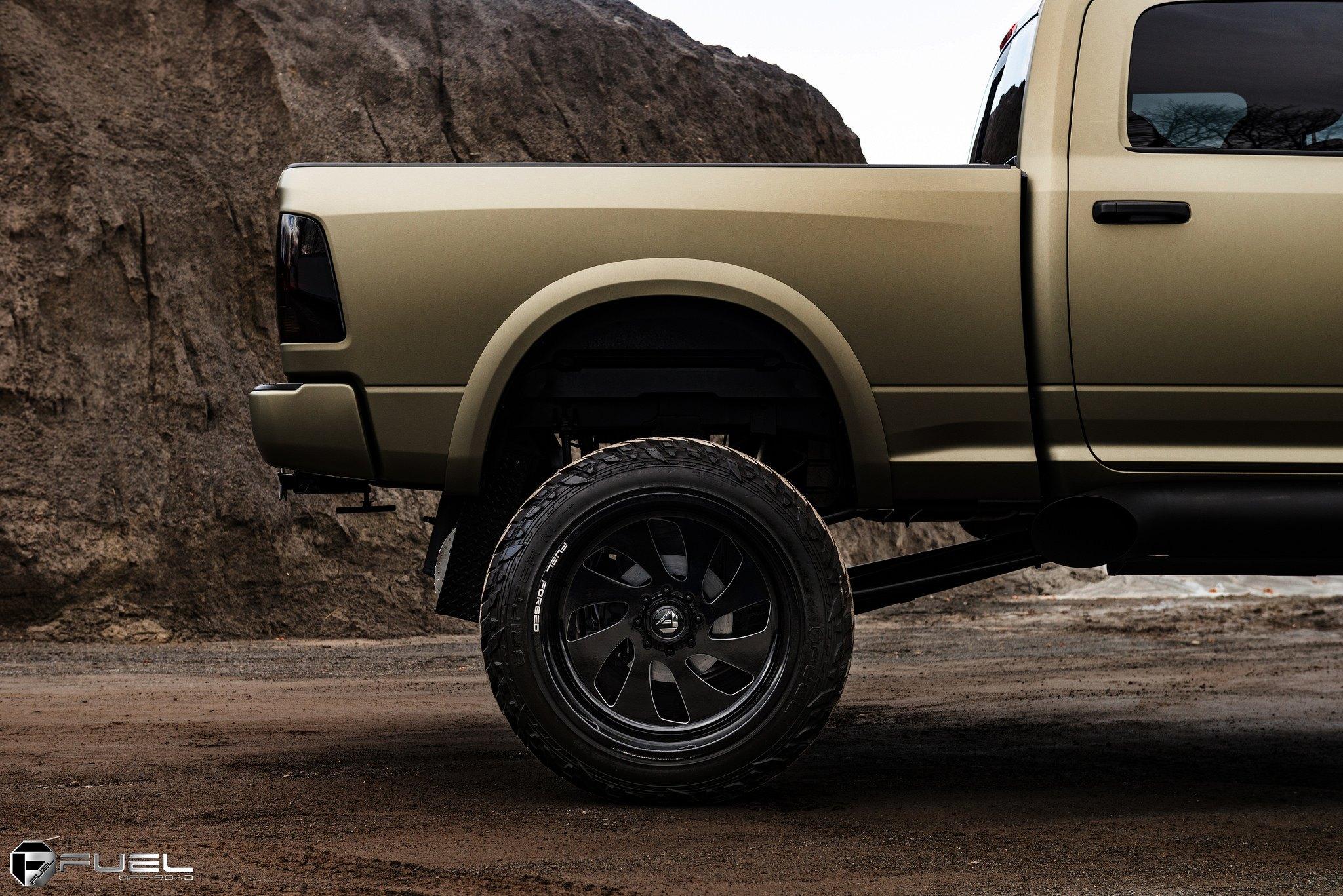 custom lifted dodge ram on black forged custom wheels by fuel gallery. Black Bedroom Furniture Sets. Home Design Ideas