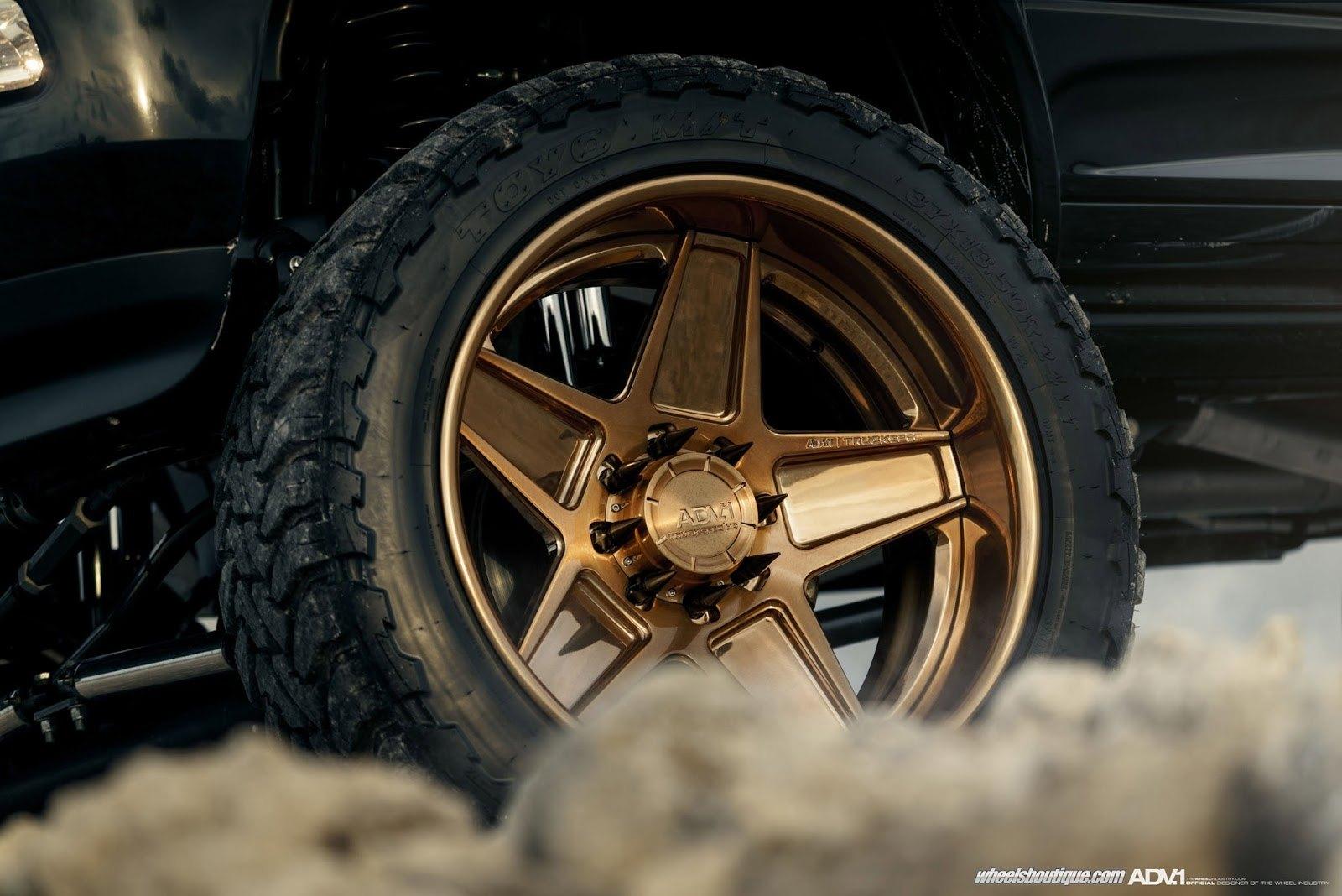 Black Ram on ADV 1 Truckspec HD Custom Wheels — CARiD com