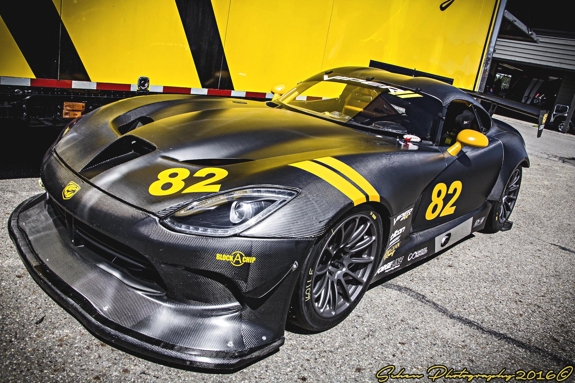 Crazy Carbon Fiber Body Kit on Black Dodge Viper — CARiD com Gallery