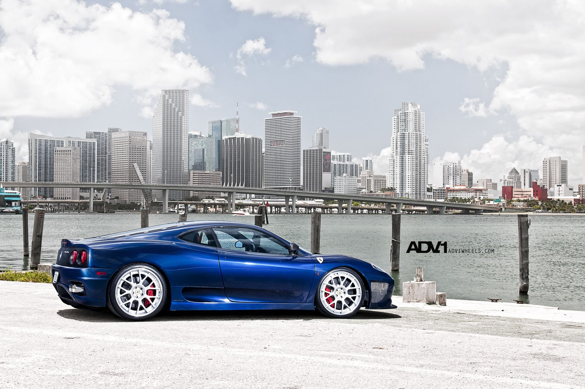 Blue Ferrari 360 With A Low Stance And Mirror Polished Adv1 Rims Carid Com Gallery