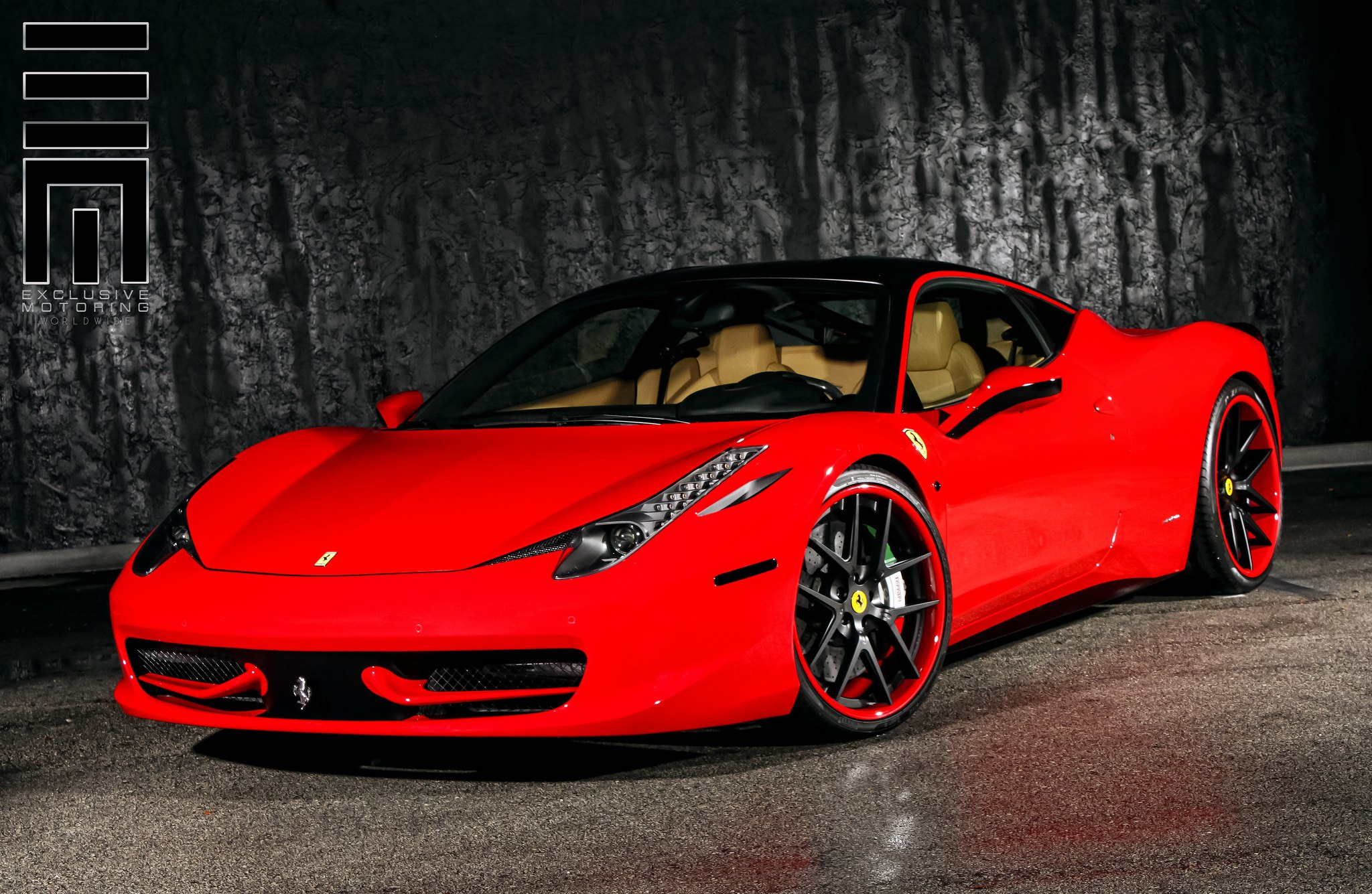 Ferrari 458 on Colormatched Custom Wheels by Exclusive Motoring ...