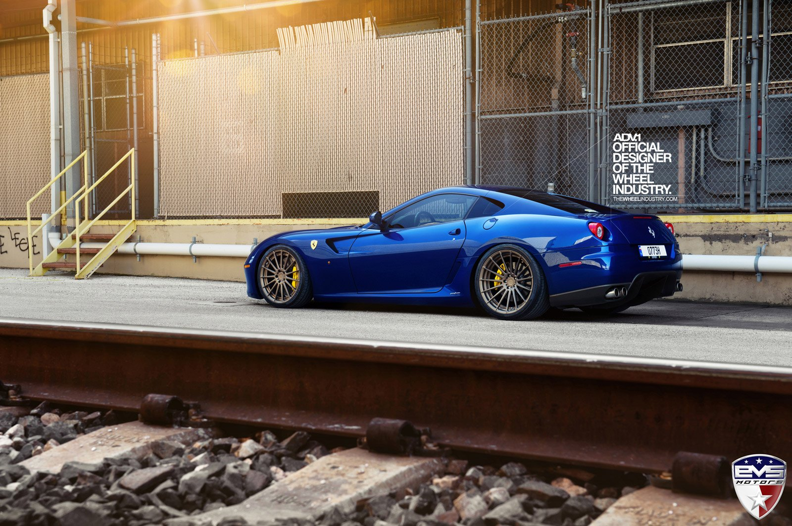 Bronze Luxury Wheels By Adv1 On Glorious Blue Ferrari 599 Carid Com Gallery