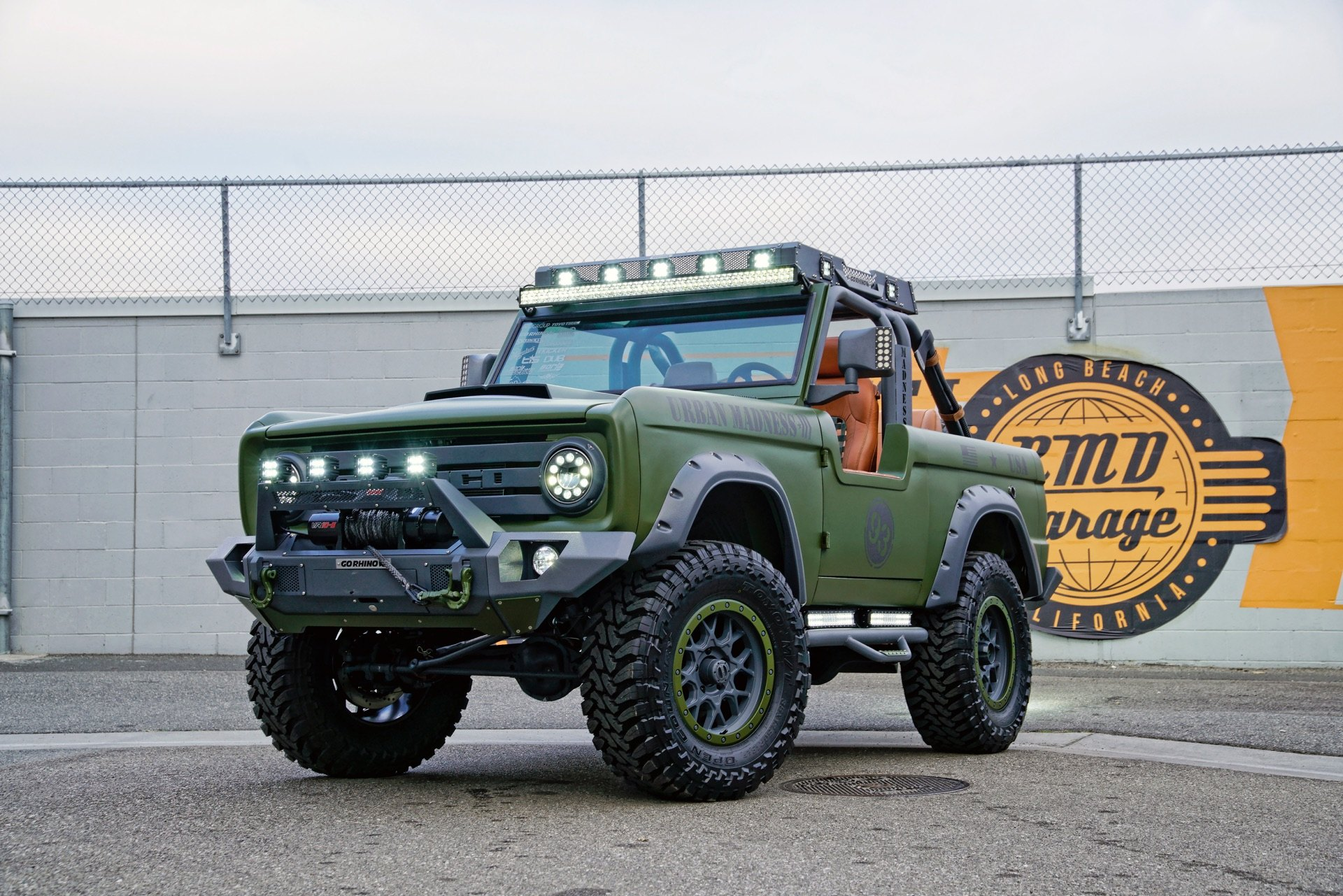 Green Ford Bronco With Go Rhino Off Road Front Per Photo By Dropstar