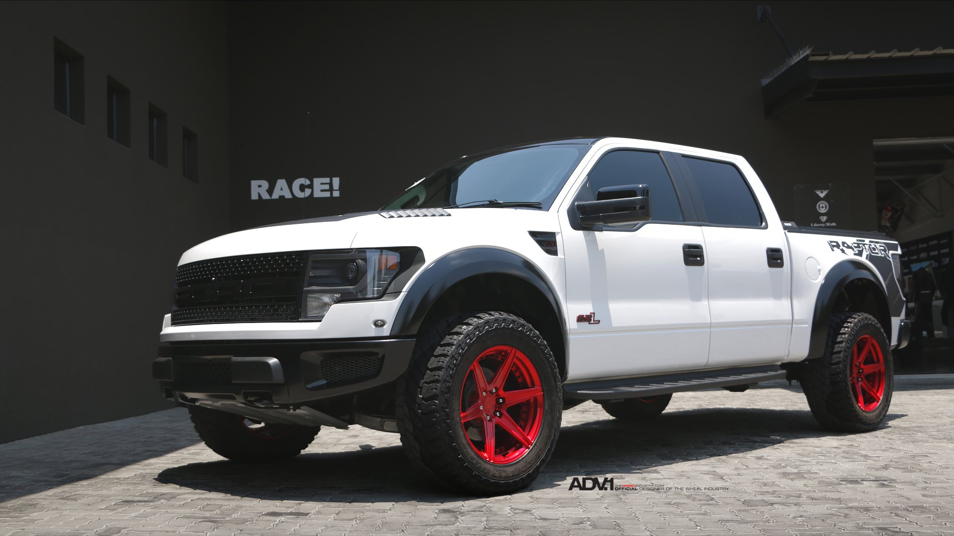 White Raptor On Red Adv 1 Offroad Wheels Carid Com Gallery