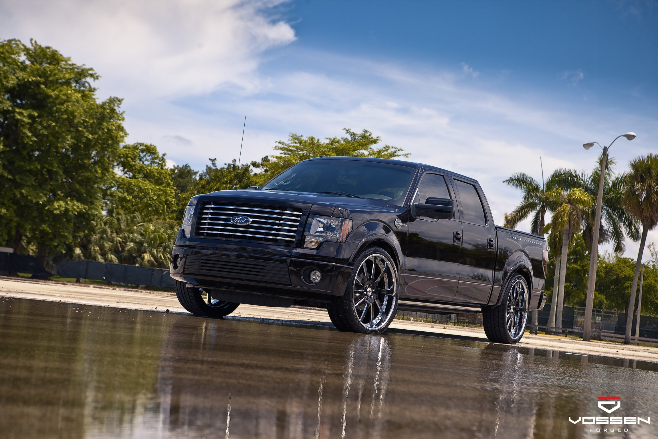 Black Ford F-150 with Chrome Billet Grille - Photo by Vossen