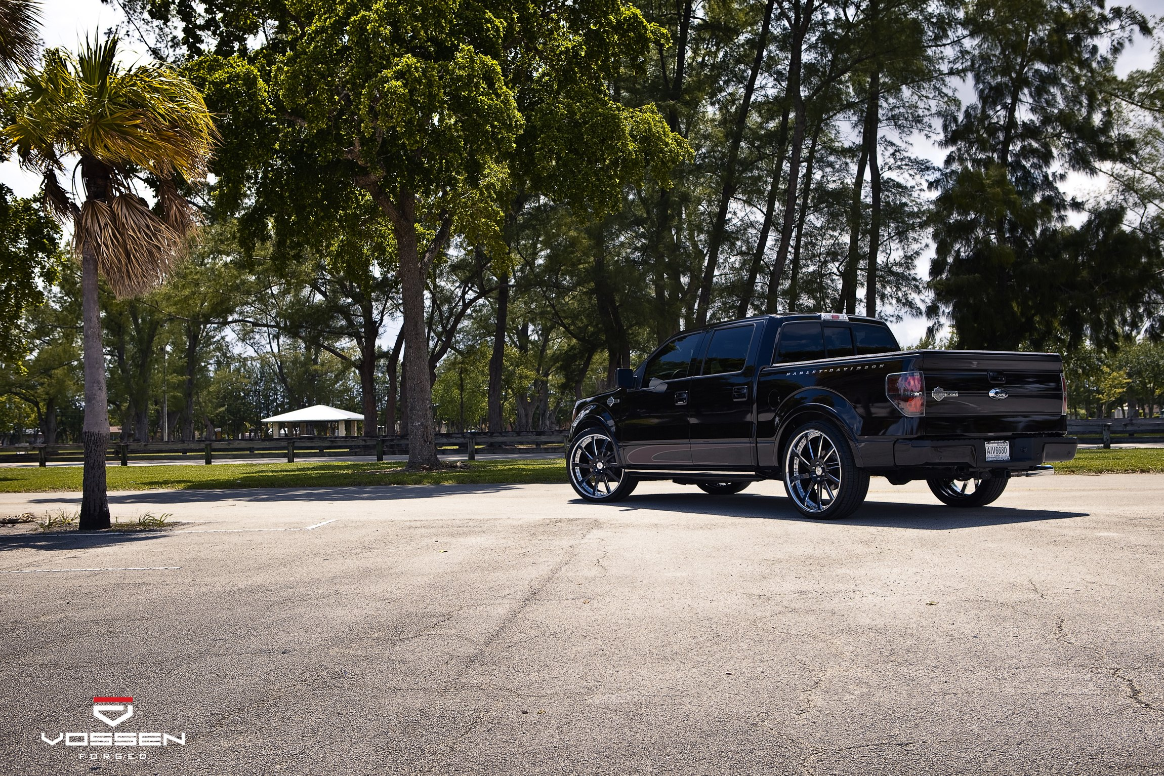 Black Ford F-150 with Custom Red LED Taillights - Photo by Vossen