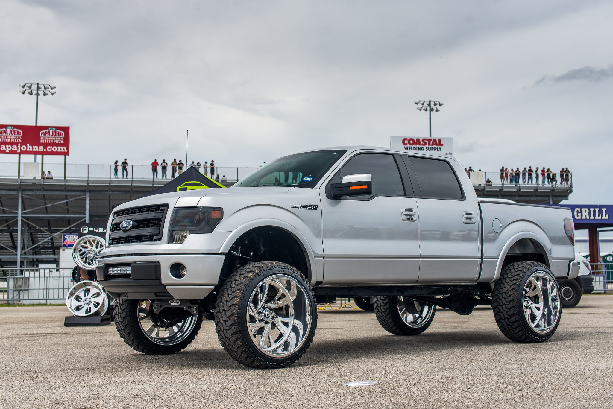 Custom gray metallic lifted ford f 150 photo by fuel offroad