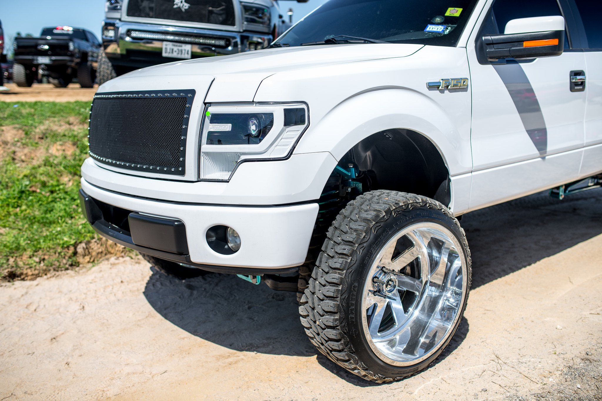 Fully Customized Ford F150 With White Custom Led Headlights And Fuel