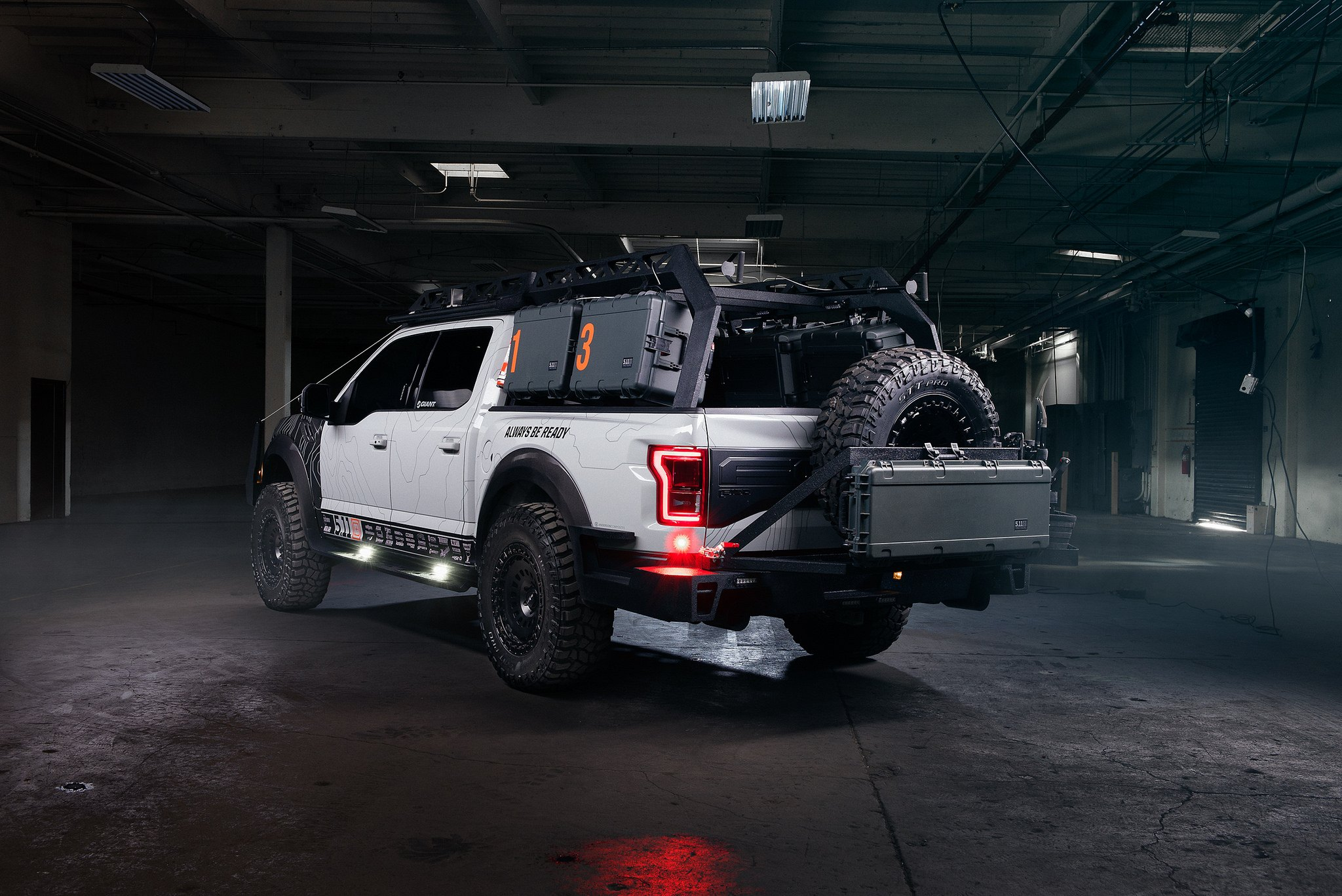 Aftermarket Red LED Taillights on Gray Ford F-150 - Photo by Rotiform