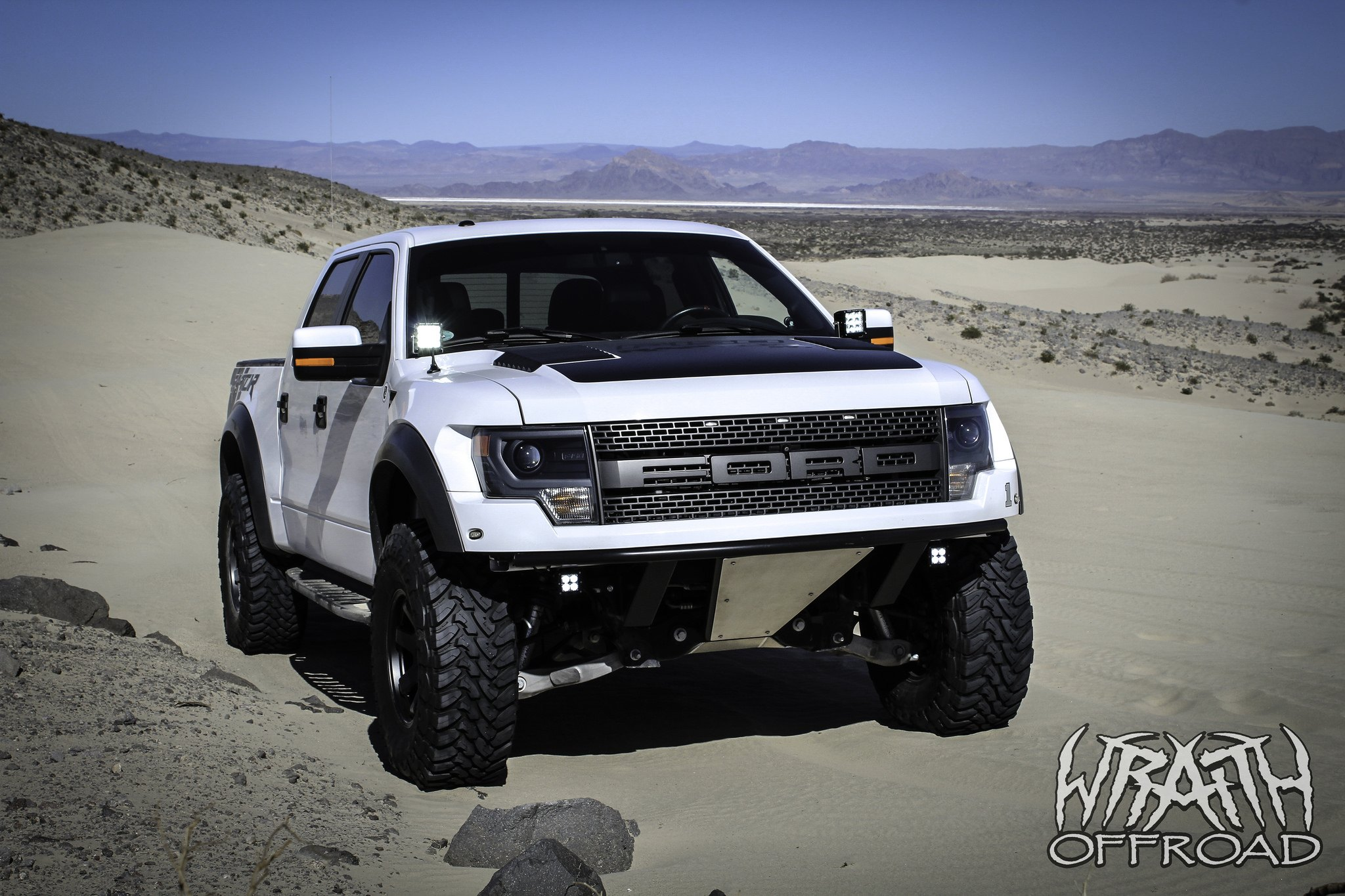 White F 150 Raptor Gone Wild With Matte Black Accents And Off Road Black Rhino Wheels Carid Com Gallery