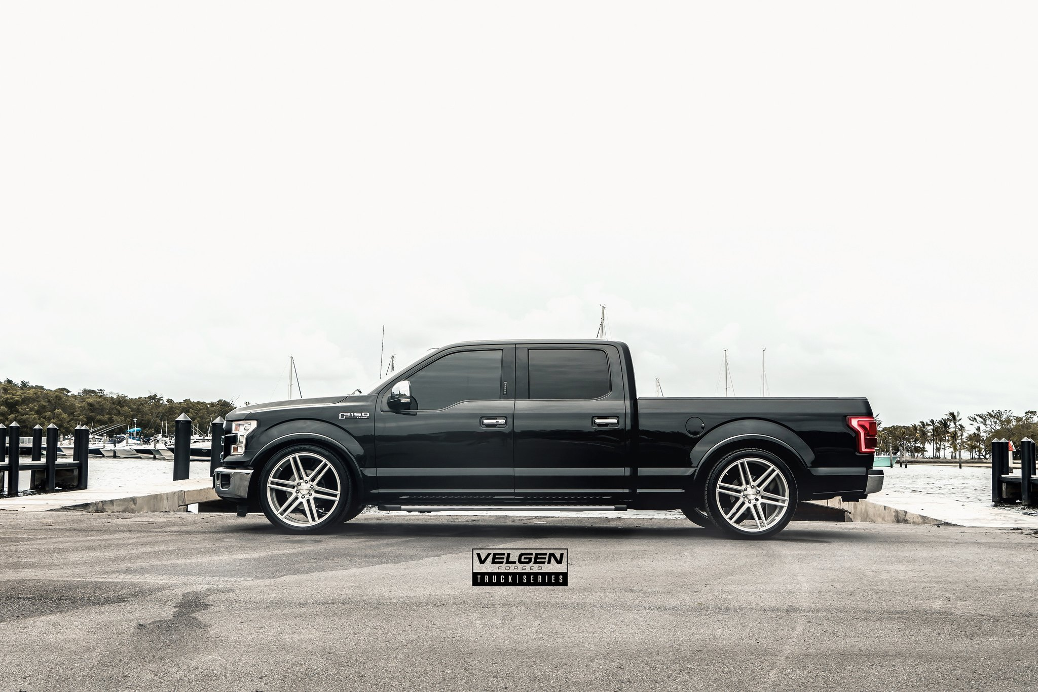Silver Forged Velgen Rims on Black Ford F-150 Lariat - Photo by Velgen