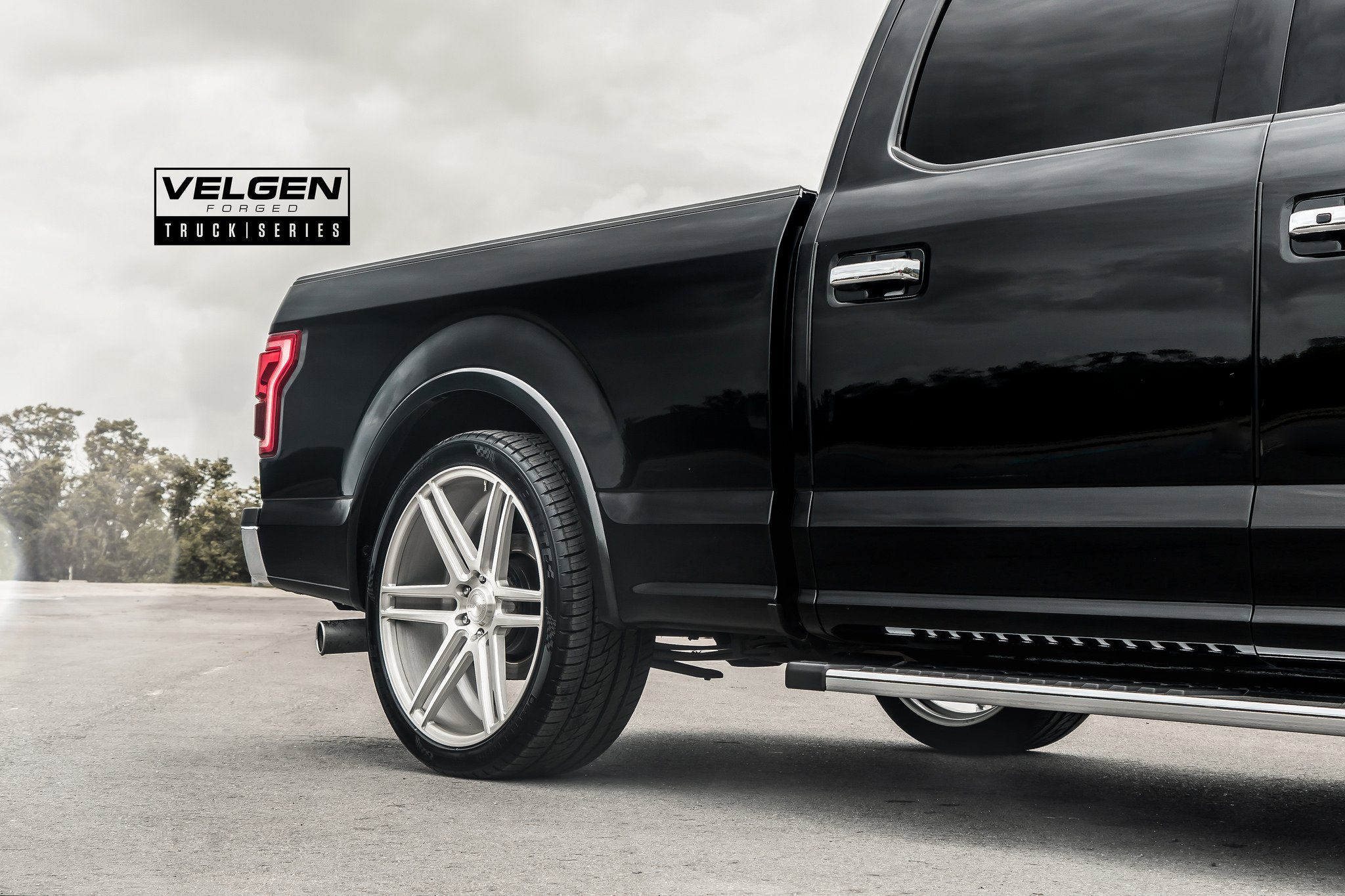 Black Ford F-150 Lariat with Truck Series Velgen Wheels - Photo by Velgen