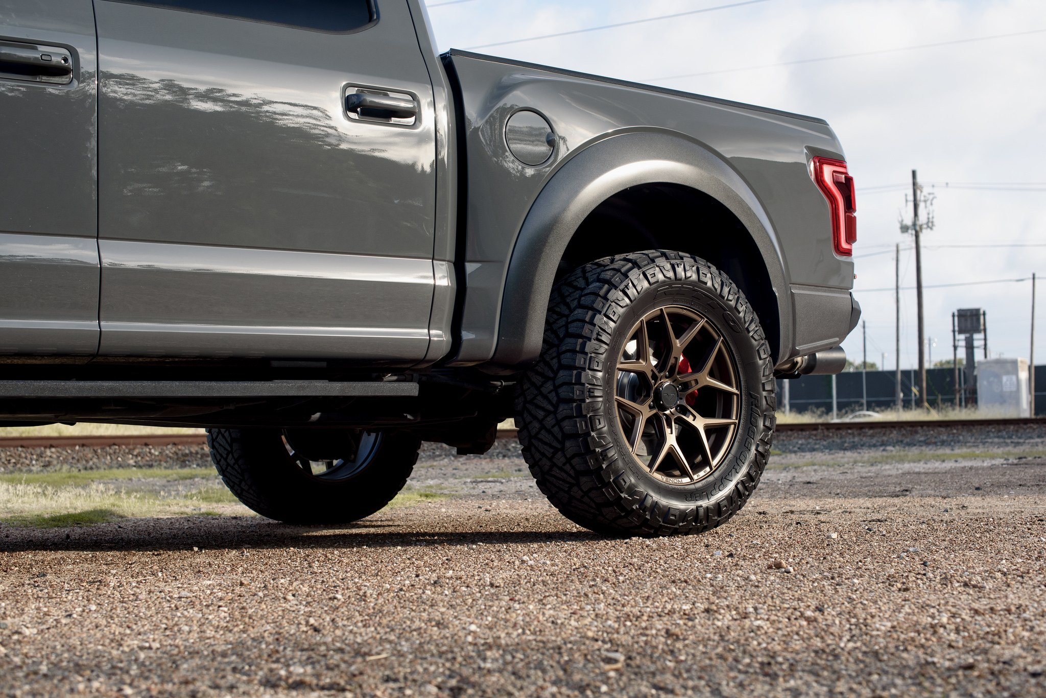 Gray Ford F-150 with Bronze Vorsteiner Wheels - Photo by Venom Rex