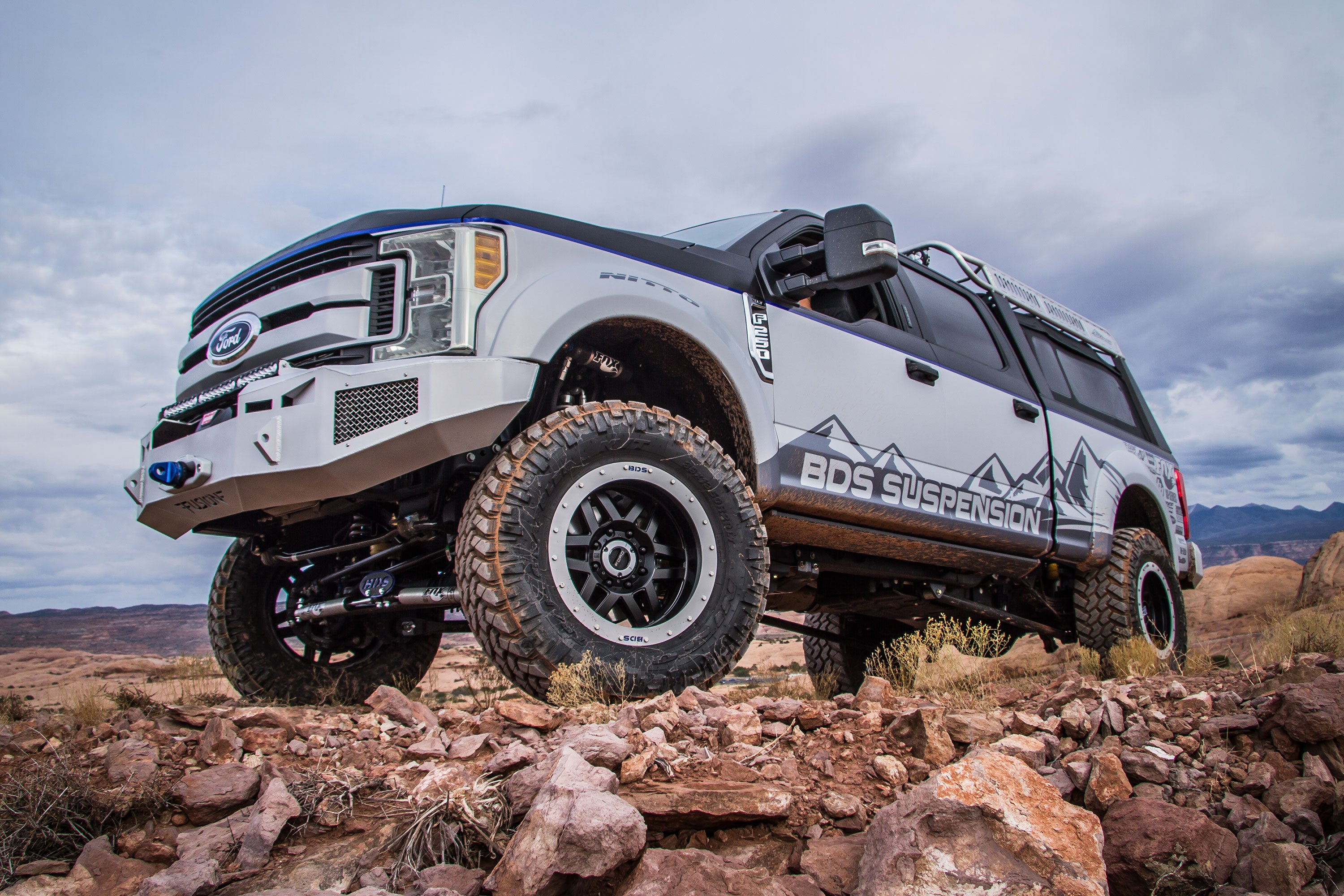 Tough Ford F Super Duty With  E  B Link Lift Kit Photo