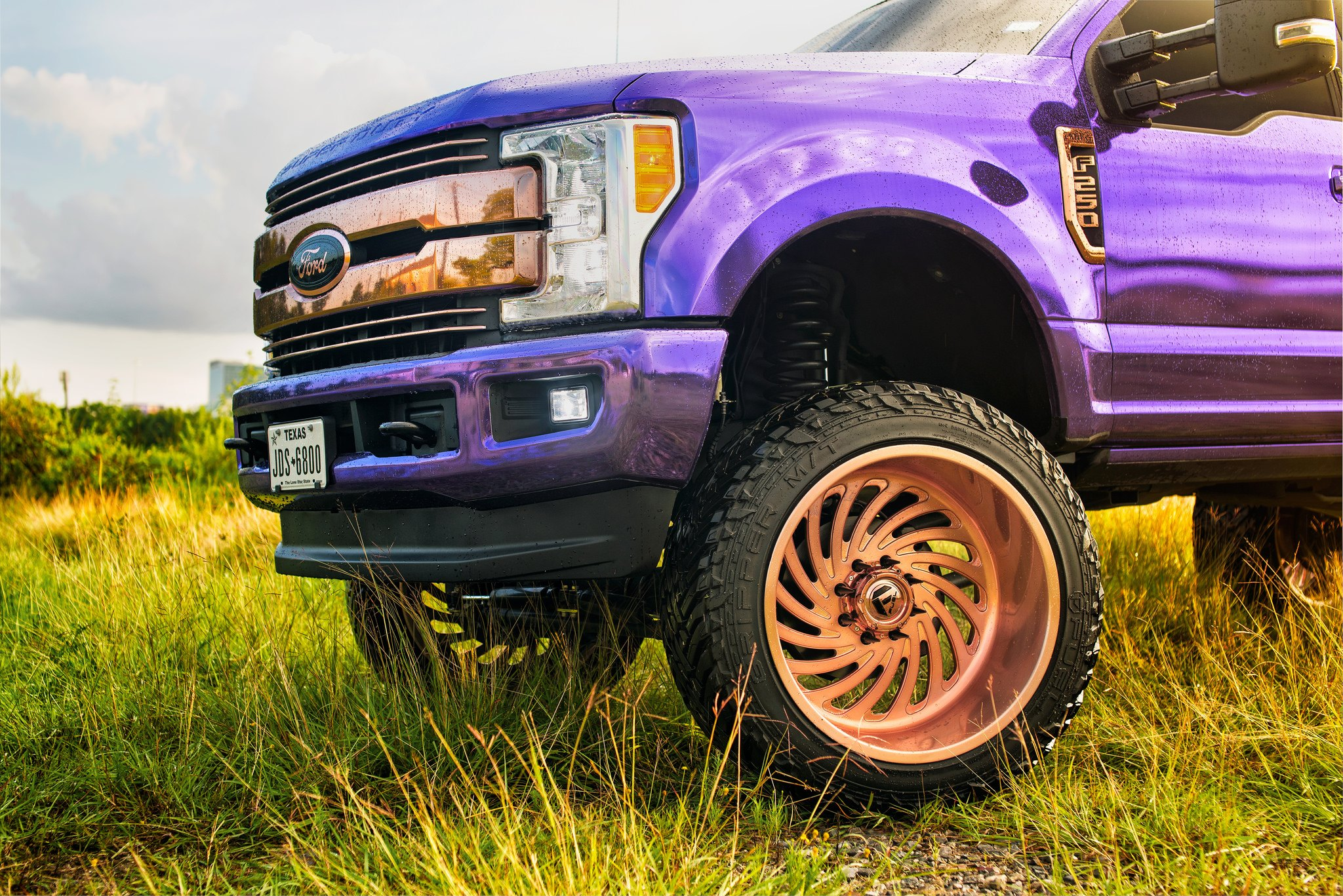 Truck Lift Shops >> Purple Madness: Lifted Ford F250 With Fuel Wheels and Custom Vinyl Wrap — CARiD.com Gallery